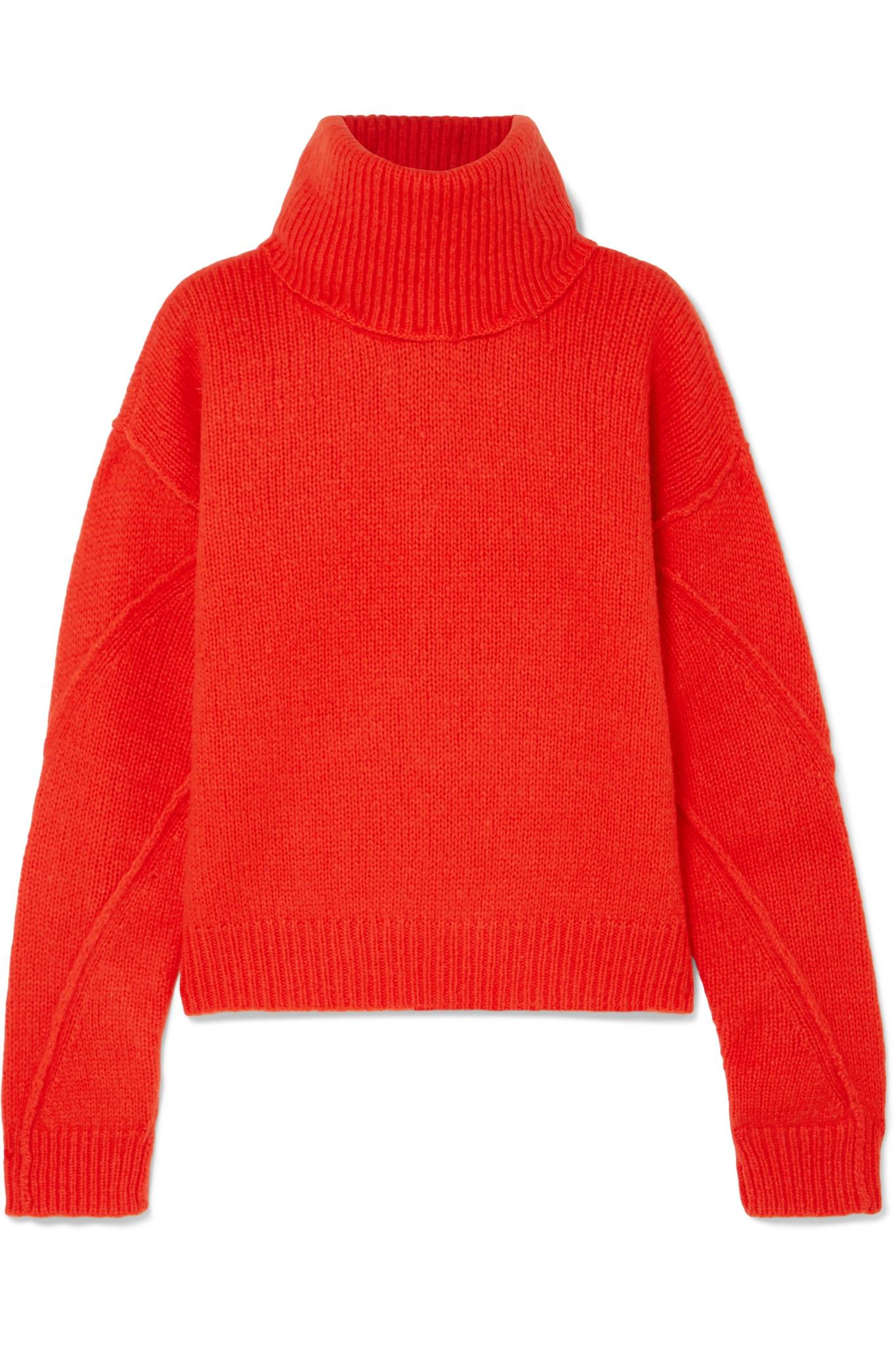 f7c24d8da9 Tory Burch Eva Convertible Oversized Wool-blend Turtleneck Sweater ...