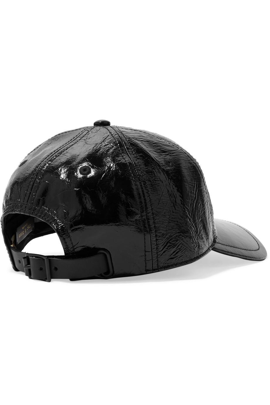 Marilyn Glossed Textured-leather Baseball Cap - Black Rag & Bone BEGGb