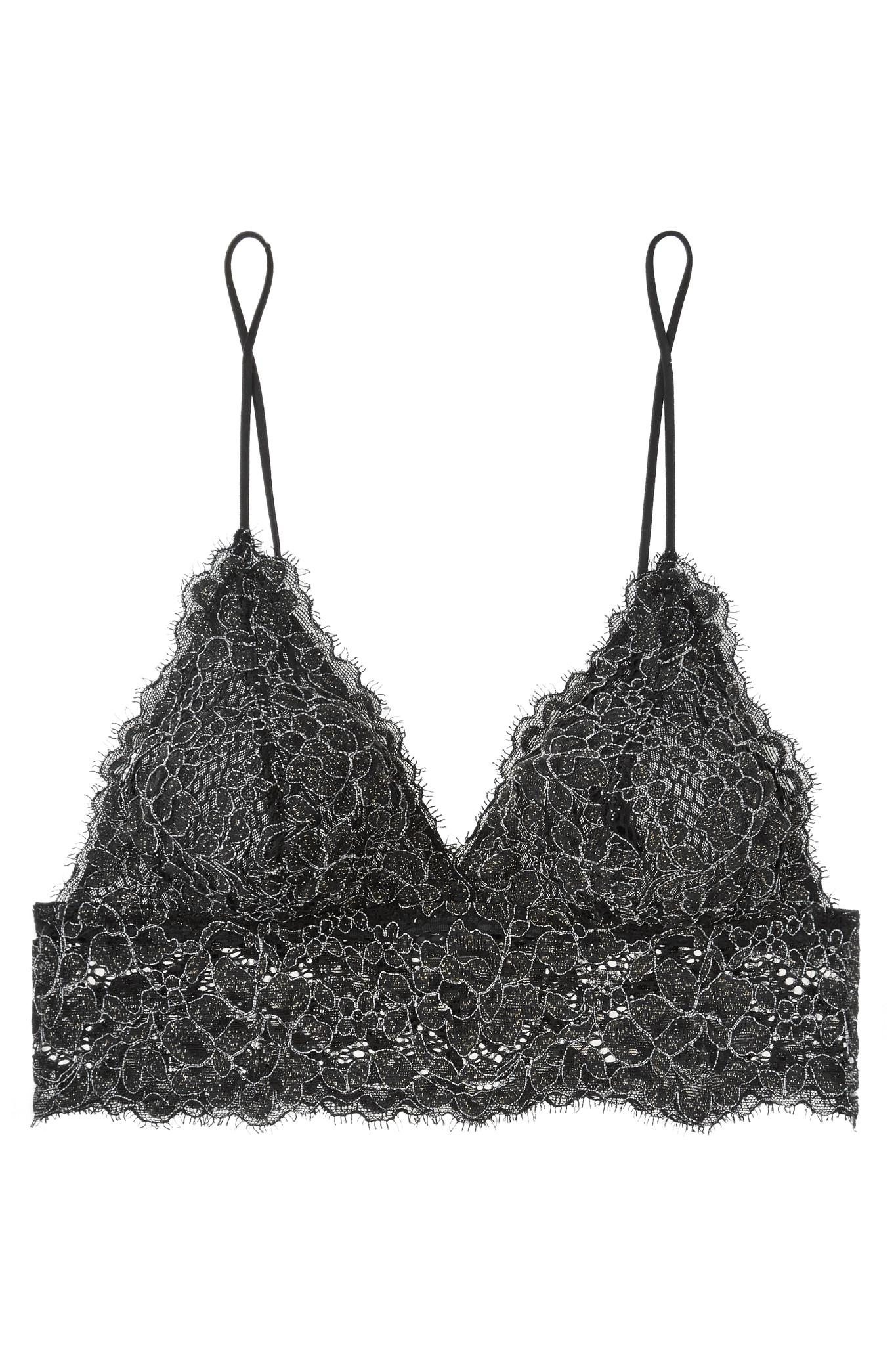 1245aa97d2 Lyst - Cosabella Pret-a-porter Metallic Stretch-lace Soft-cup Bra in ...