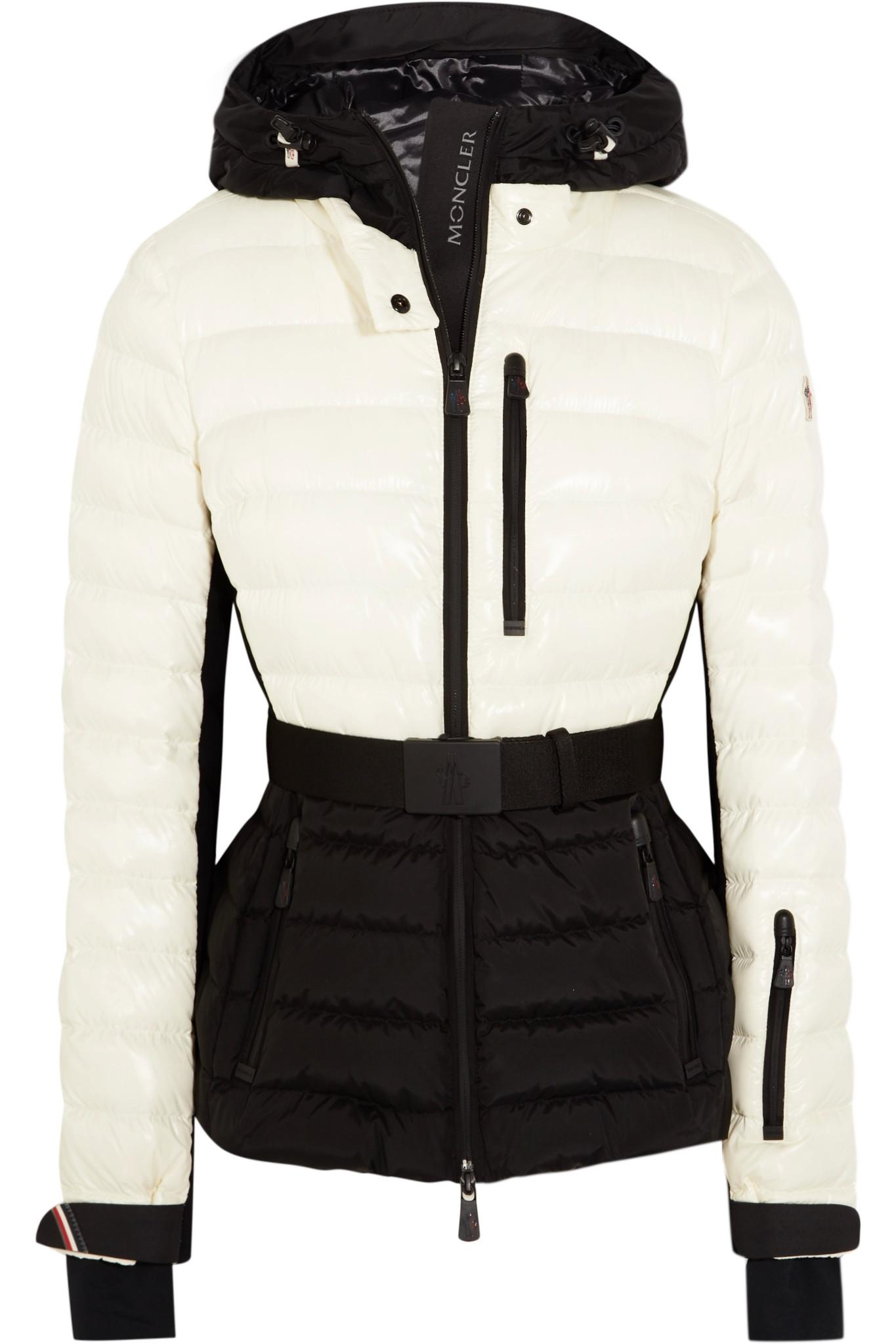moncler black and white ski jacket