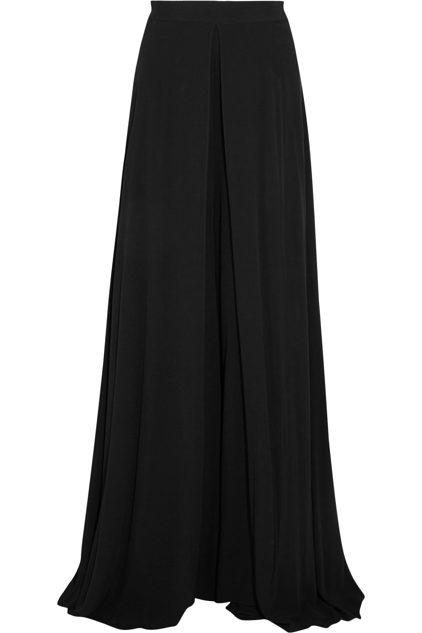 Crêpe Pantalon Large Jambe - Getty Noir Rosetta nYCjHH4