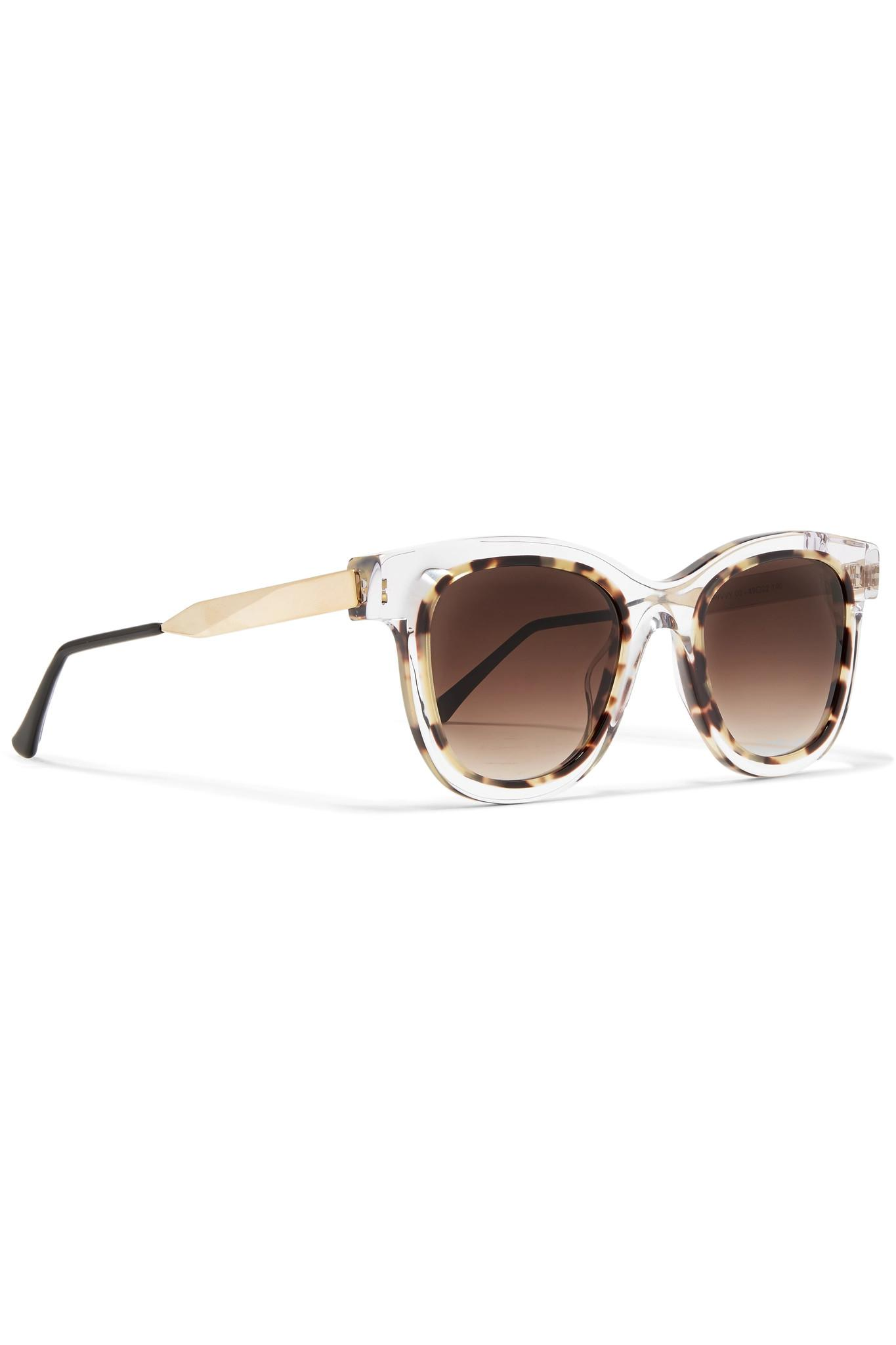 c0c438b21c Thierry Lasry - Multicolor Savvvy Cat-eye Tortoiseshell Acetate And  Gold-tone Sunglasses -. View fullscreen