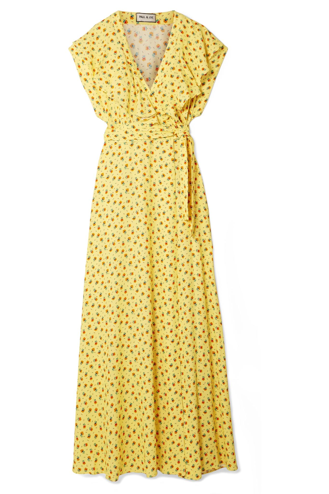 cf3d1afa4b28f3 paul-joe-yellow-Amalia-Ruffled-Floral-print-Crepe-Wrap-Maxi-Dress.jpeg