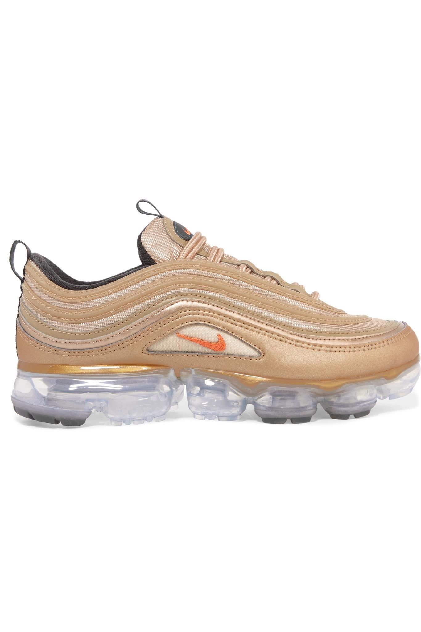 c51a1e339655 Nike. Women s Air Vapormax 97 Metallic Faux Leather And Mesh Trainers