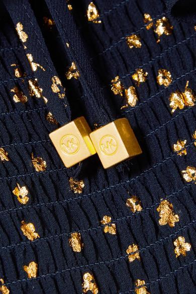 MICHAEL Michael Kors Denim Ditsy Blossom Blouse in Navy (Blue)