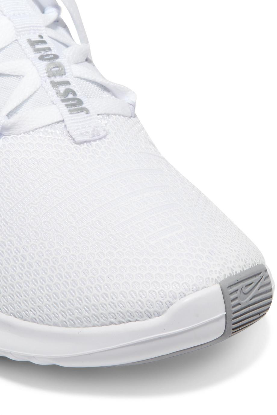 Free Tr 8 Stretch-knit And Mesh Sneakers - White Nike INOASiGp