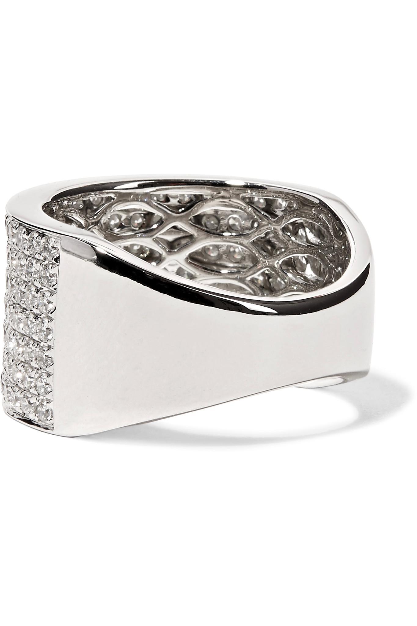 Anita Ko Marlow 18-karat White Gold Diamond Ring HkRQid9