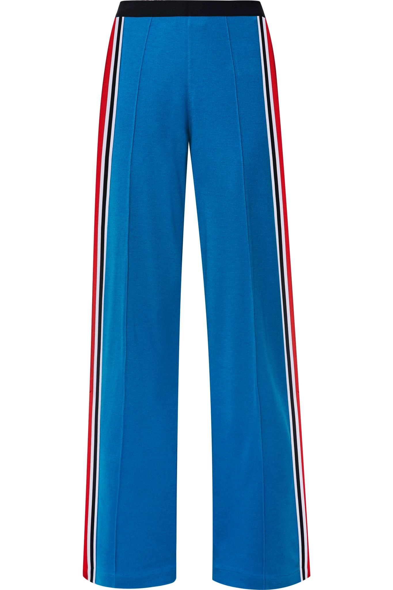 27c8d6ee81228a Lyst - Tory Sport Striped Stretch-jersey Track Pants in Blue - Save 61%