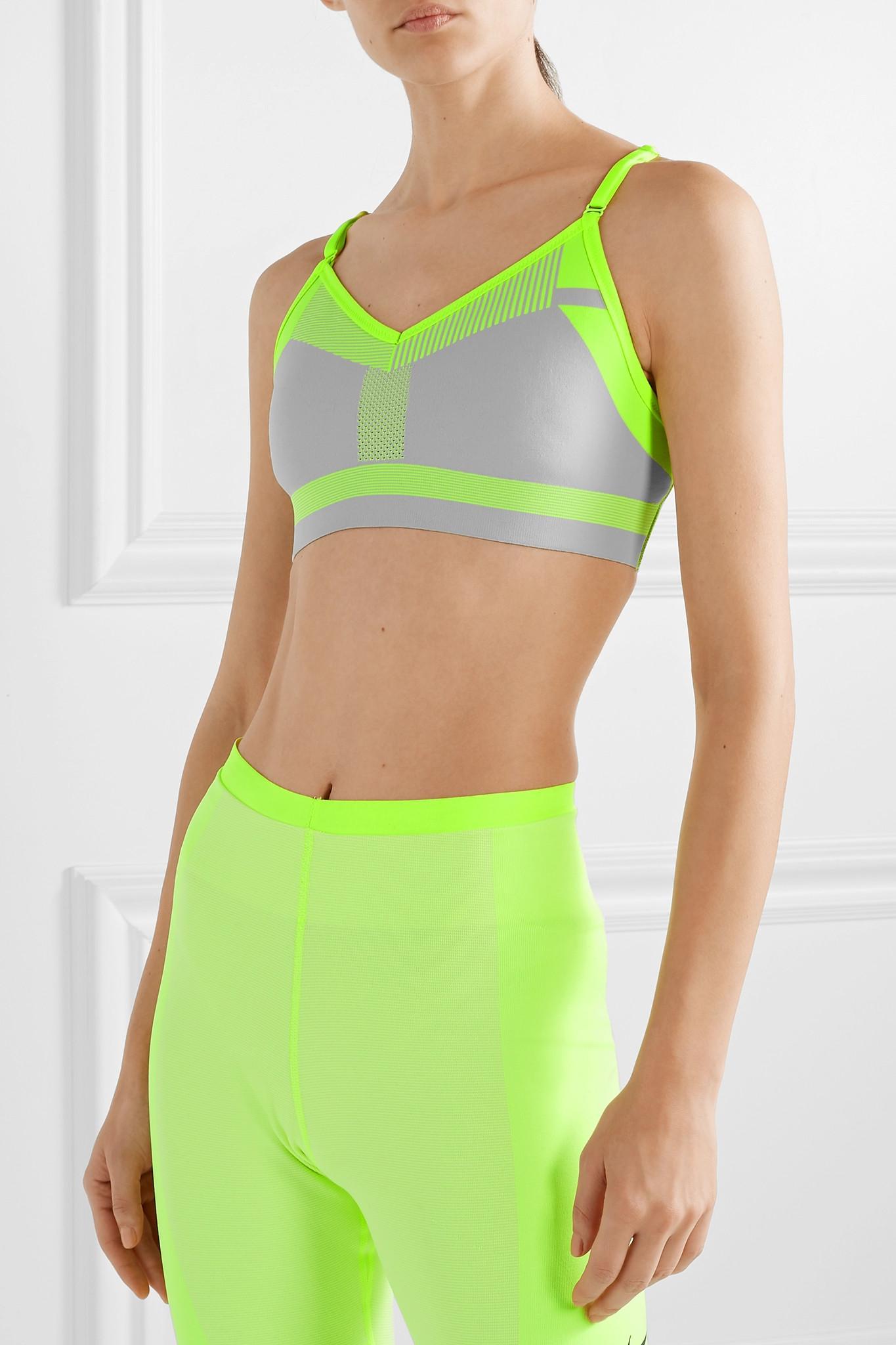 afaefb2cc5a79 Nike - Green Indy Neon Flyknit Sports Bra - Lyst. View fullscreen