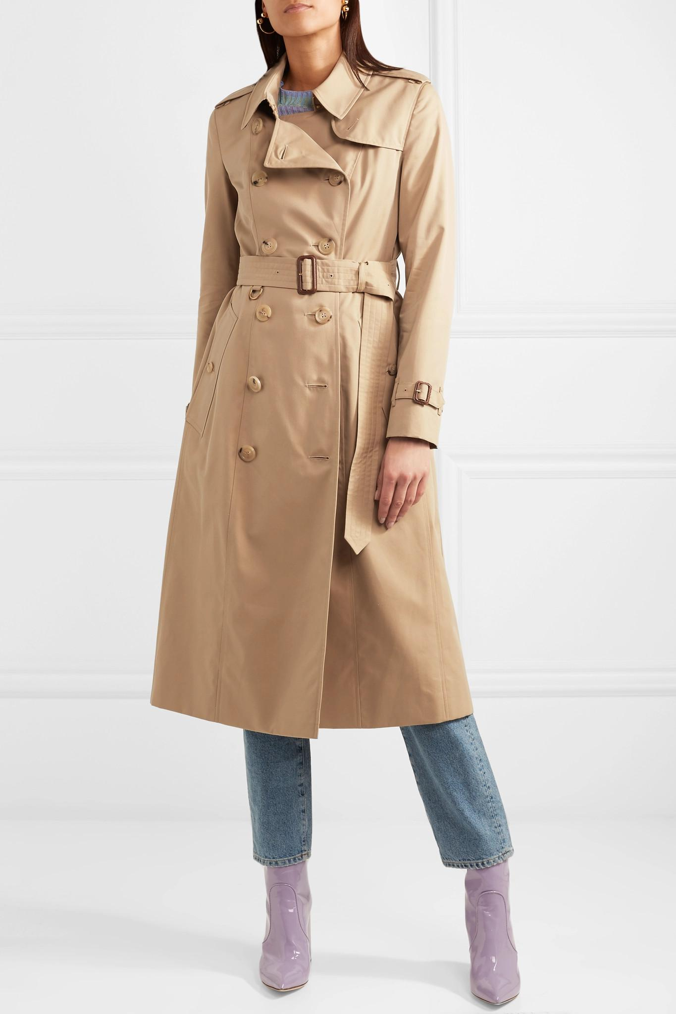 Burberry - Natural The Chelsea Long Cotton-gabardine Trench Coat - Lyst.  View fullscreen 4f9a3a131f2