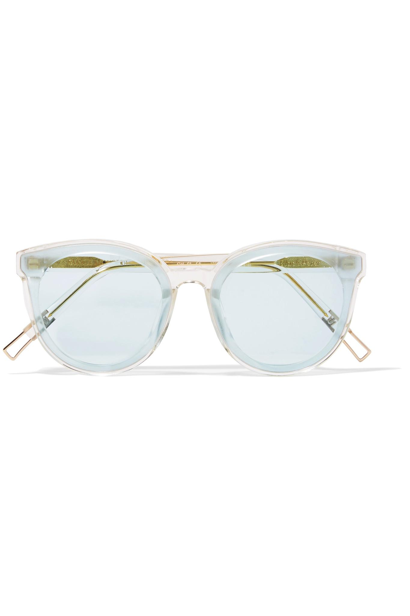 711c969484 Lyst - Gentle Monster Black Peter Round-frame Acetate And Gold-tone ...