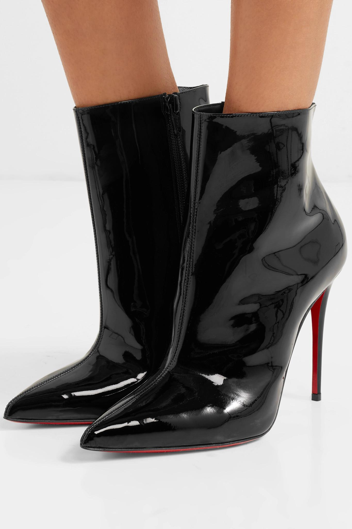 6a48346aef5 Christian Louboutin - Black So Kate Booty 100 Patent-leather Ankle Boots -  Lyst. View fullscreen