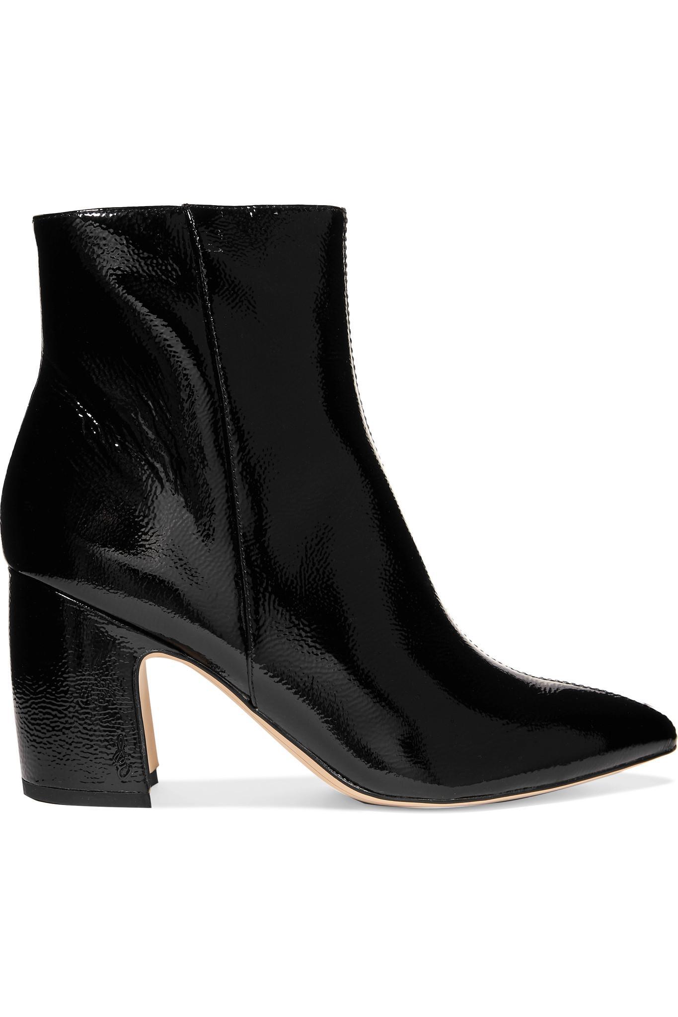 d7d4e97e2553 Sam Edelman Hilty Patent-leather Ankle Boots in Black - Lyst