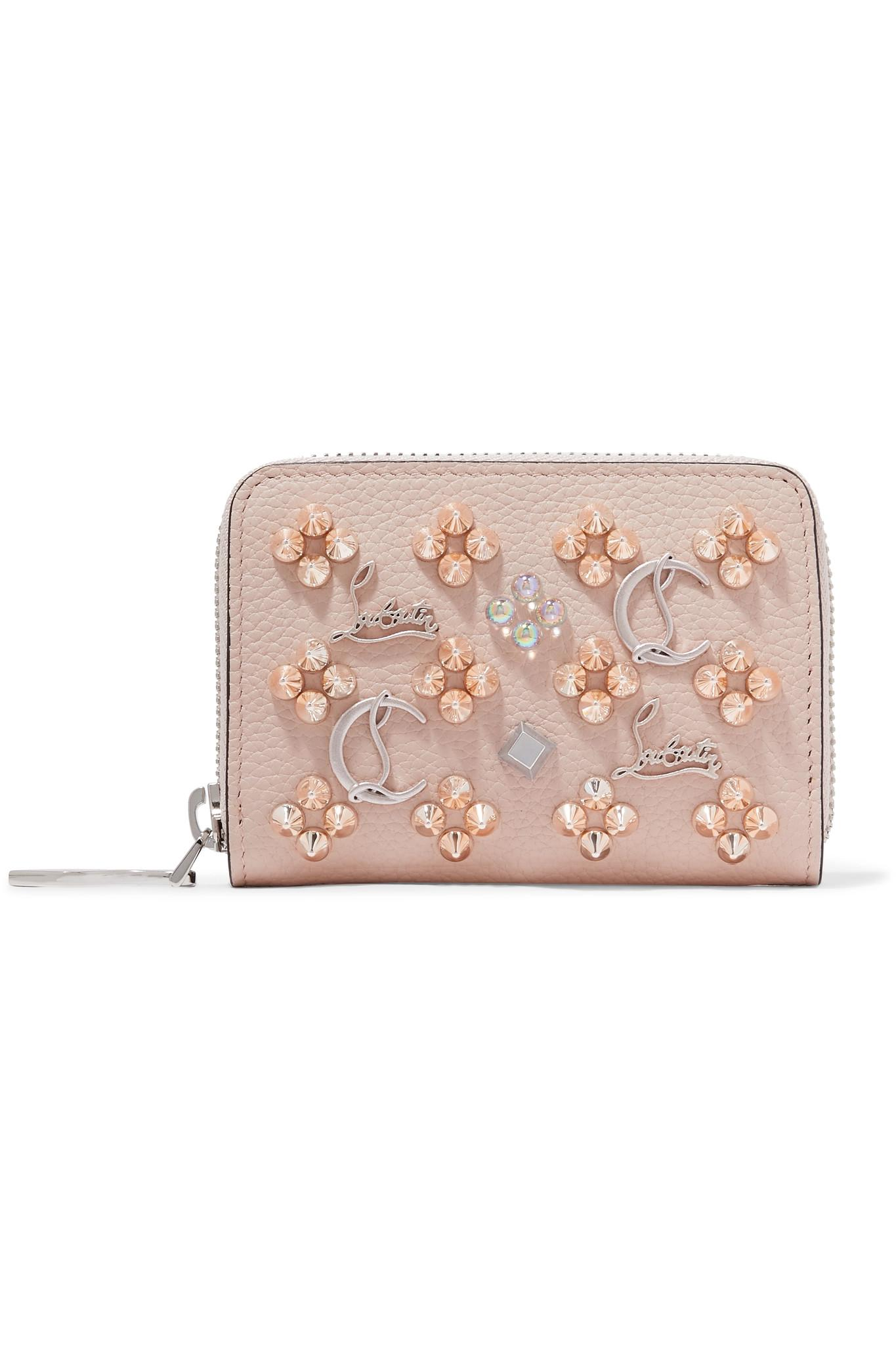 6cdf1ace75 Christian Louboutin. Women's Panettone Spiked Textured-leather Wallet