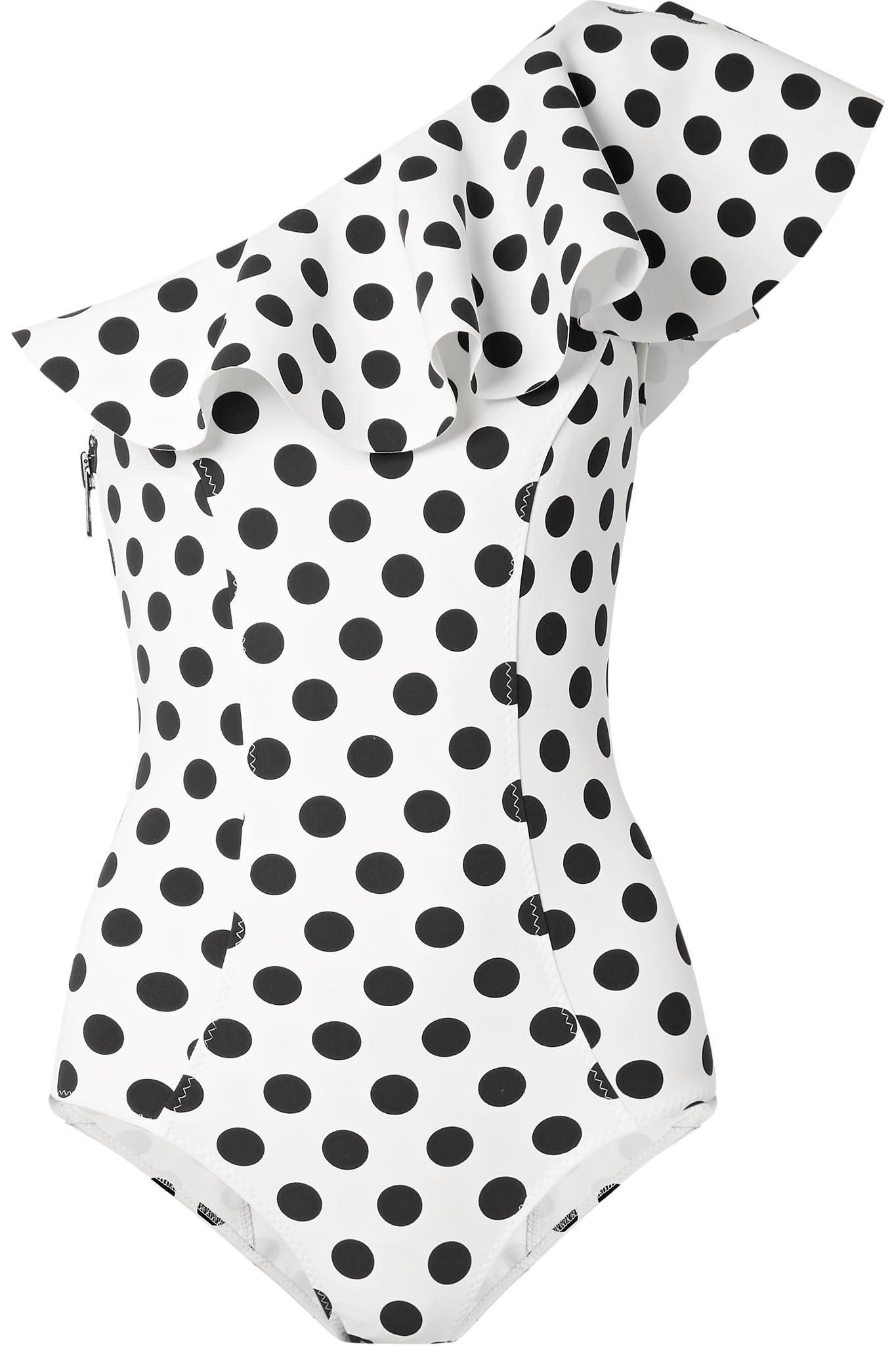 Lisa Marie Fernandez Maillot De Bain En Tissu Collé à Pois Jasmine - Noir Boutique Pas Cher Pour bG2i7J