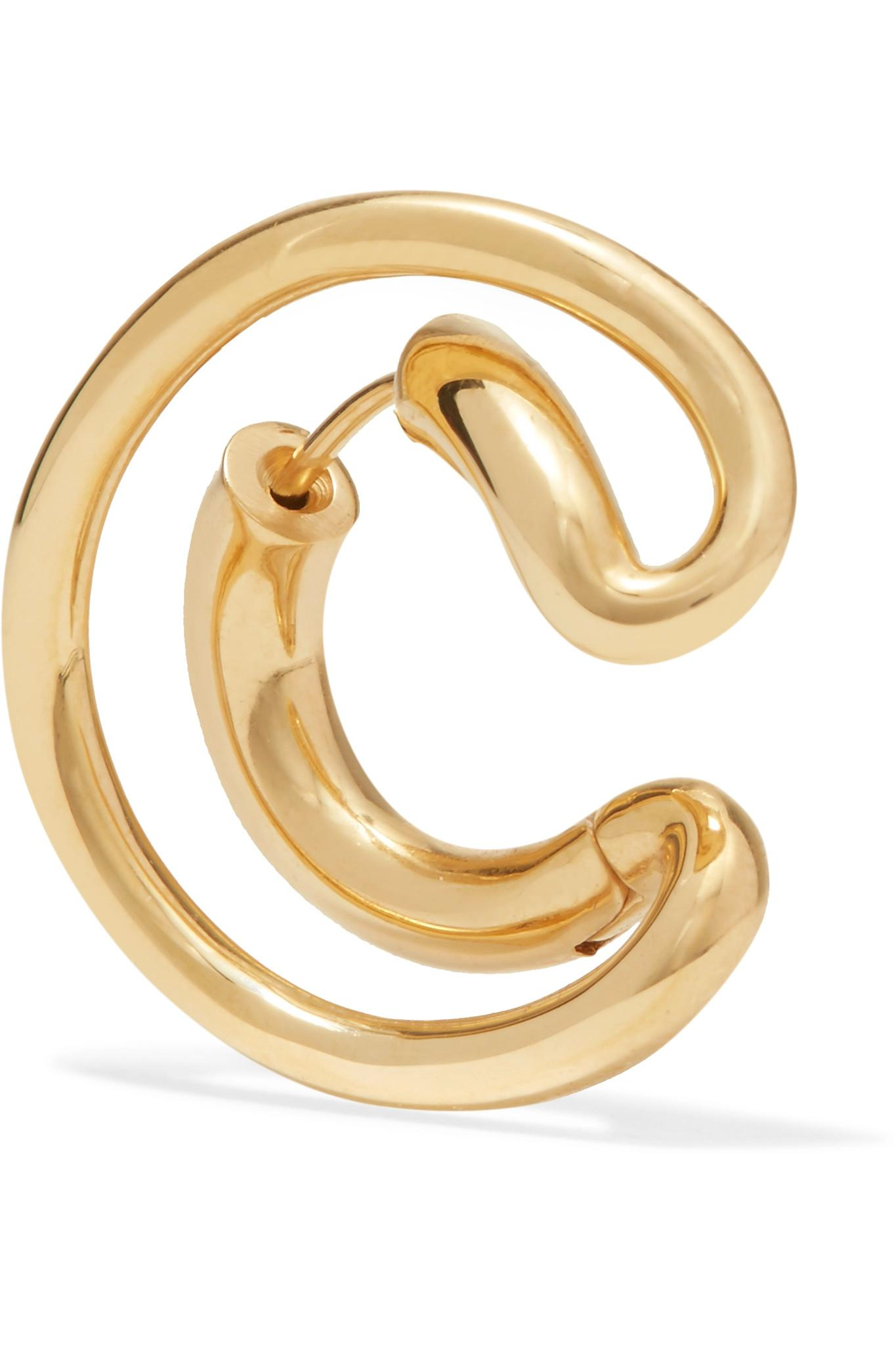 Charlotte Chesnais Ego small gold-plated single earring cTV2yQ