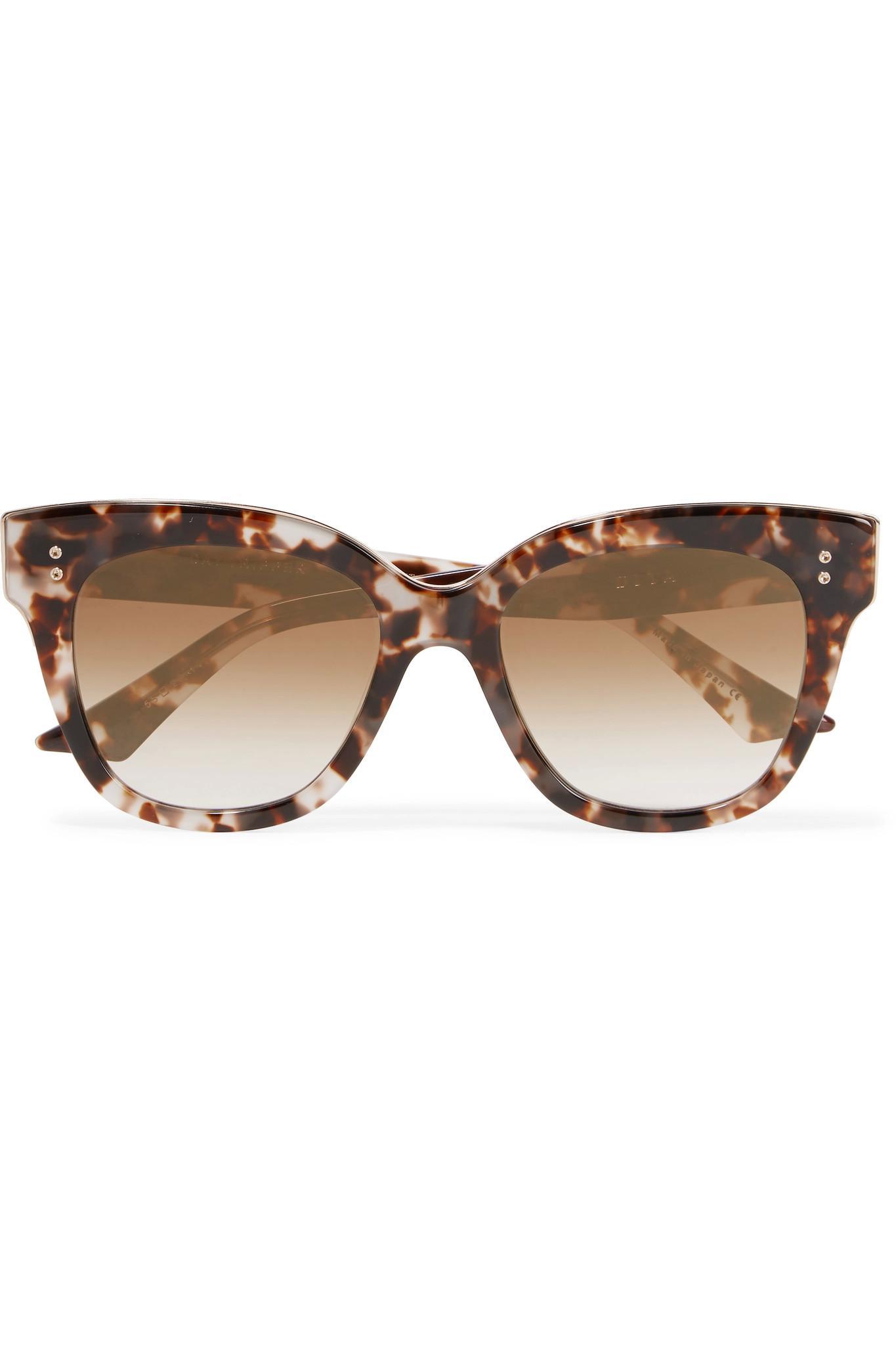 1201177a34b Lyst - DITA Daytripper Square-frame Acetate Sunglasses in Brown