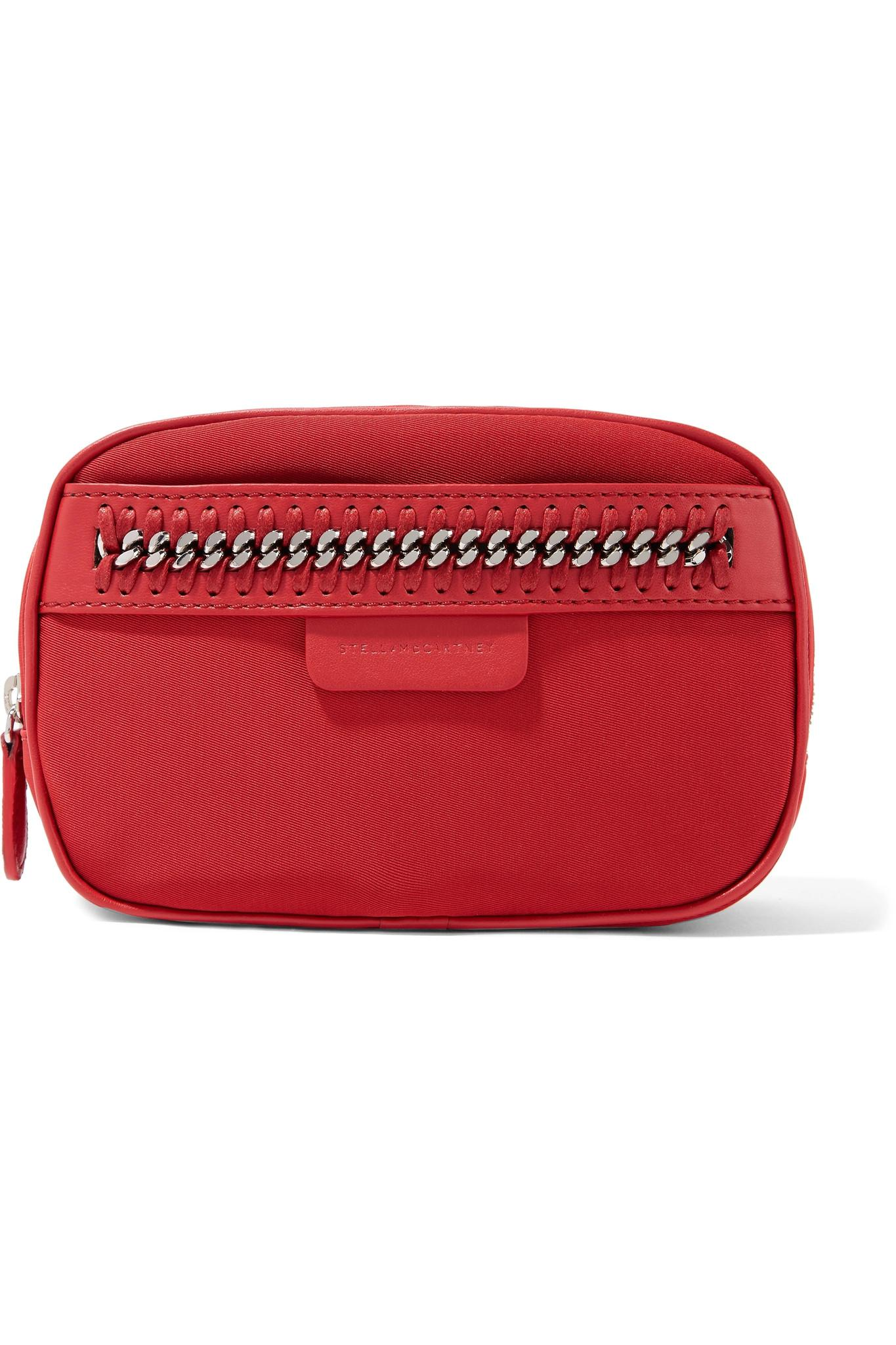 The Falabella Chain And Faux Leather-trimmed Shell Cosmetics Case - Black Stella McCartney 7BWZ1X