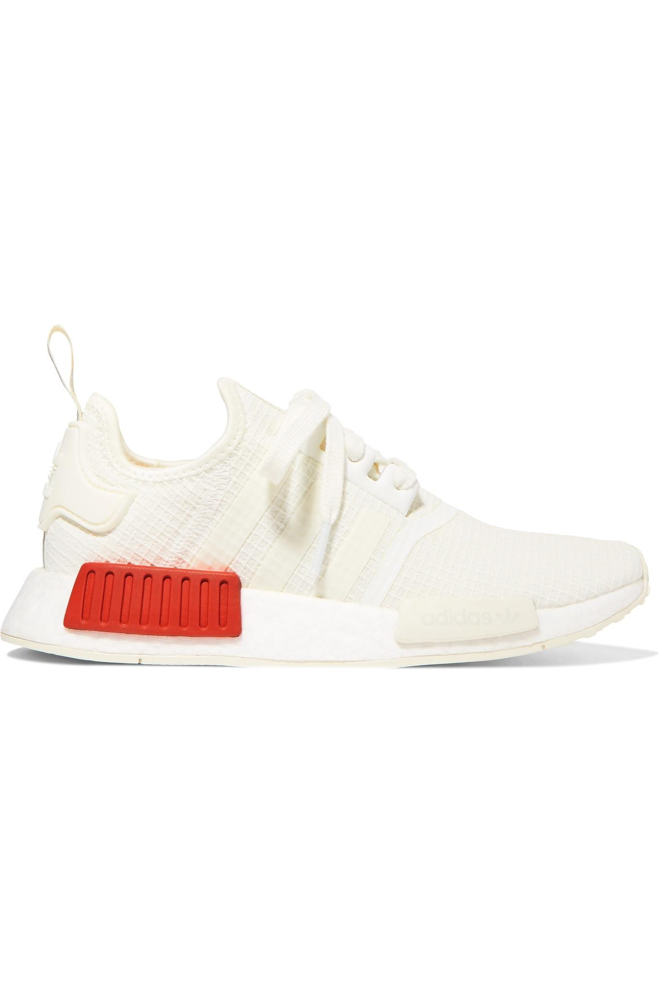 443e30846502b3 adidas Originals. Women s White Nmd R1 Rubber-trimmed Primeknit Trainers