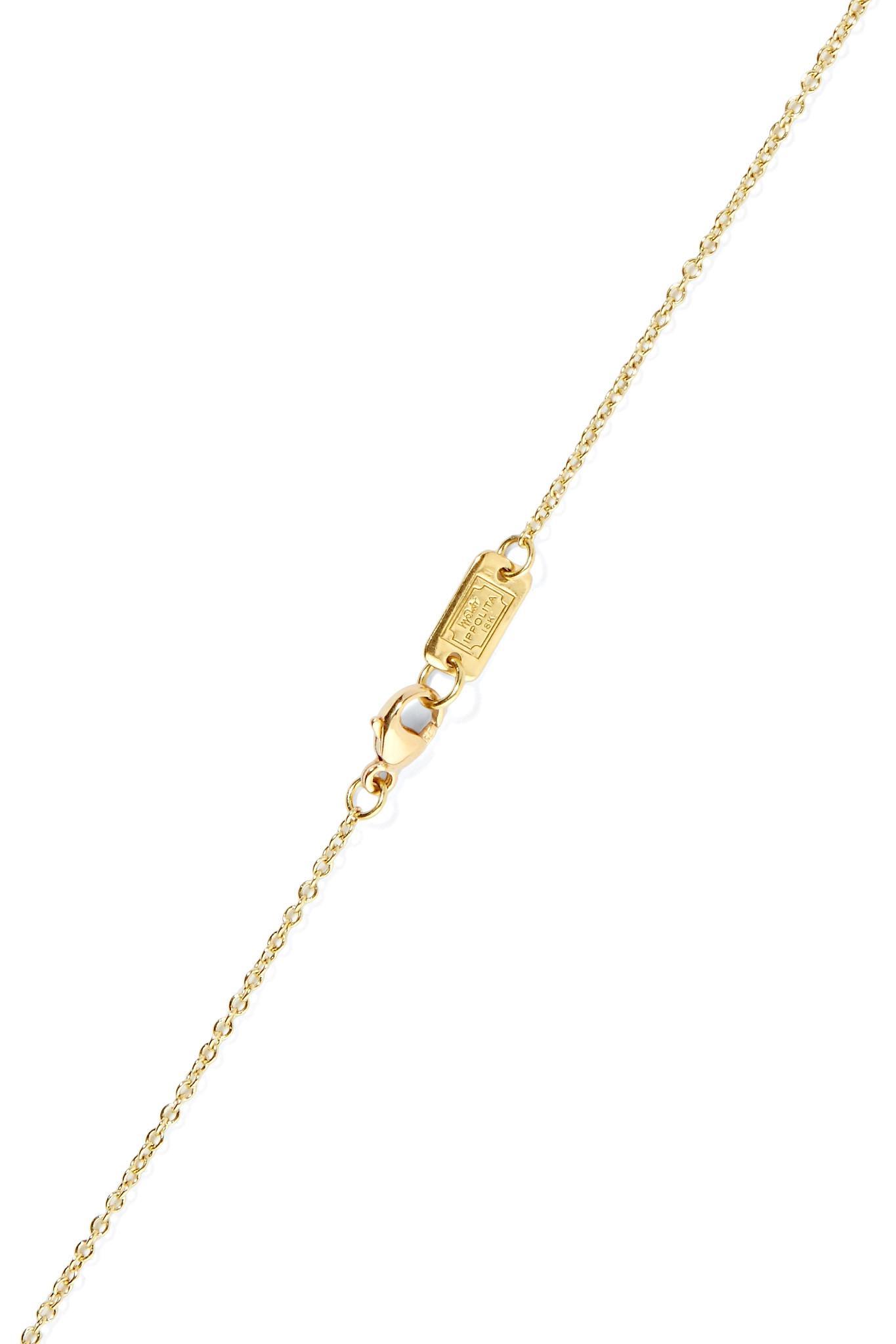 Ippolita Polished Rock Candy Confetti 18-karat Gold Shell Necklace KIrFCdgrn