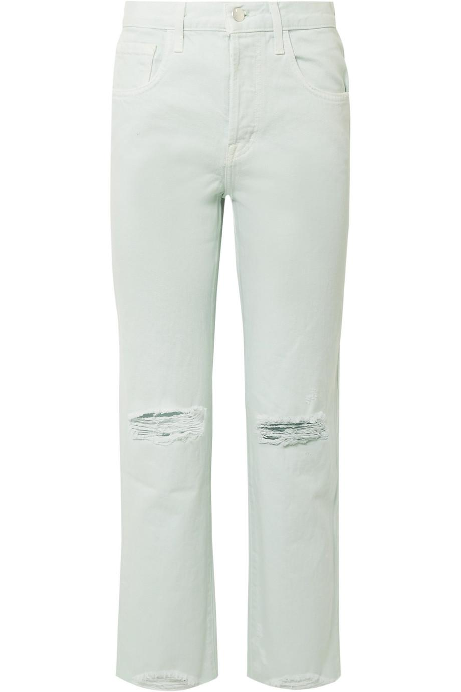 Wynne Distressed High-rise Straight-leg Jeans - Mint J Brand ba3ylD