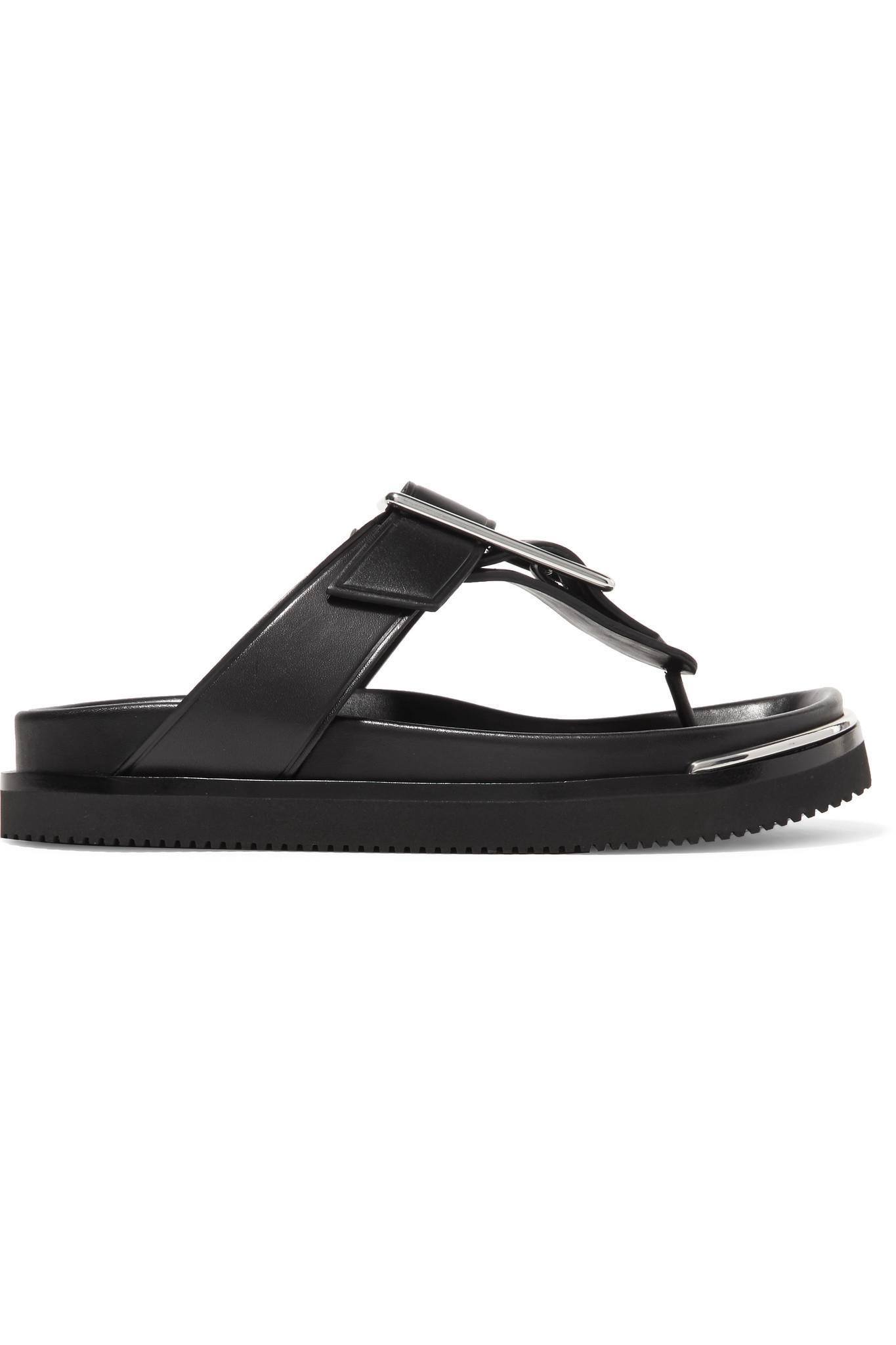 MM6 Maison Martin Margiela Black Corin Sandals