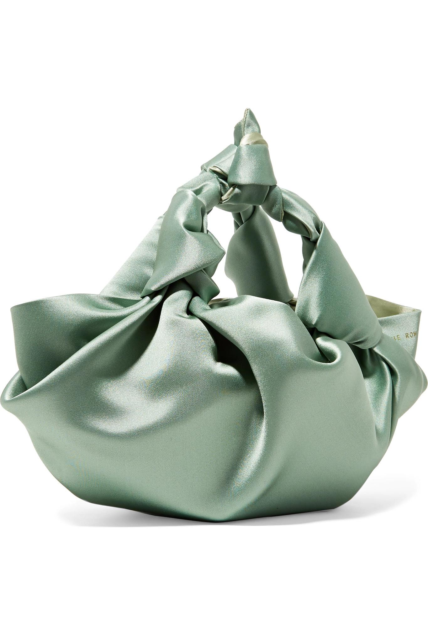 Lyst - The Row Ascot Small Satin Tote in Green 33c68bc019c9e