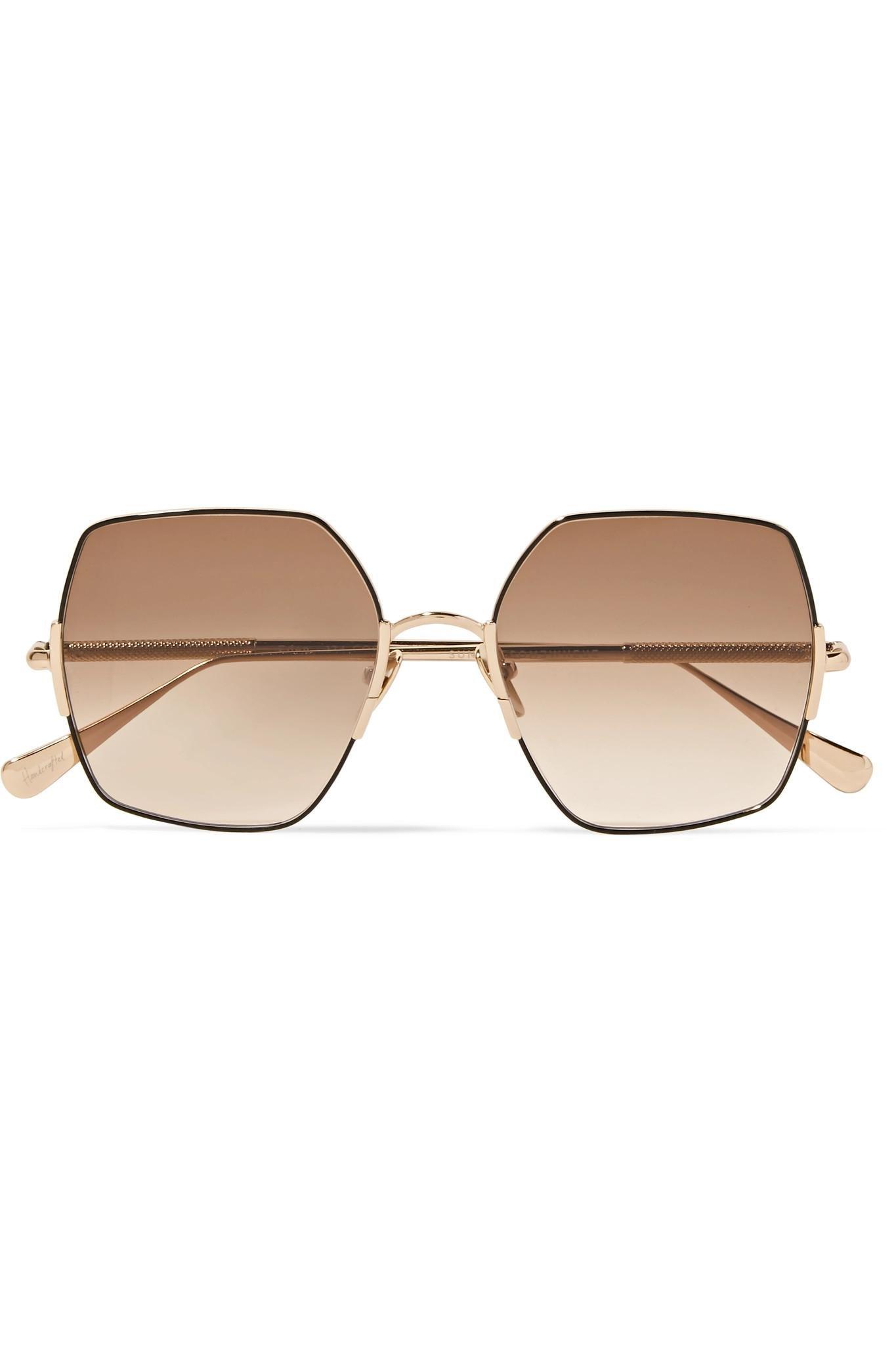 1a858a7305e3e Sunday Somewhere Eden Oversized Square-frame Gold-tone Sunglasses in ...