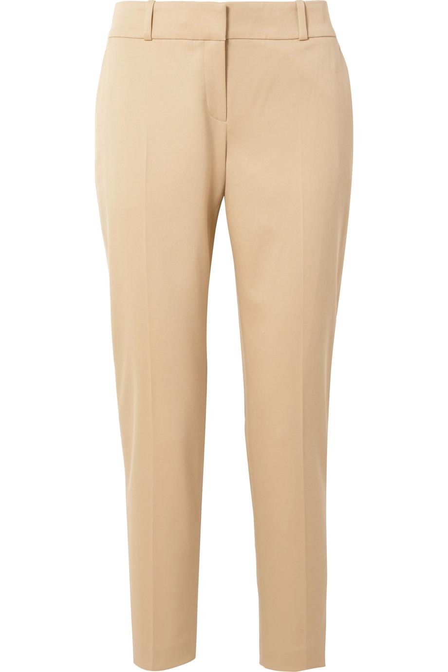 Blake Stretch-wool Twill Straight-leg Pants - Beige The Row voJSxo9V