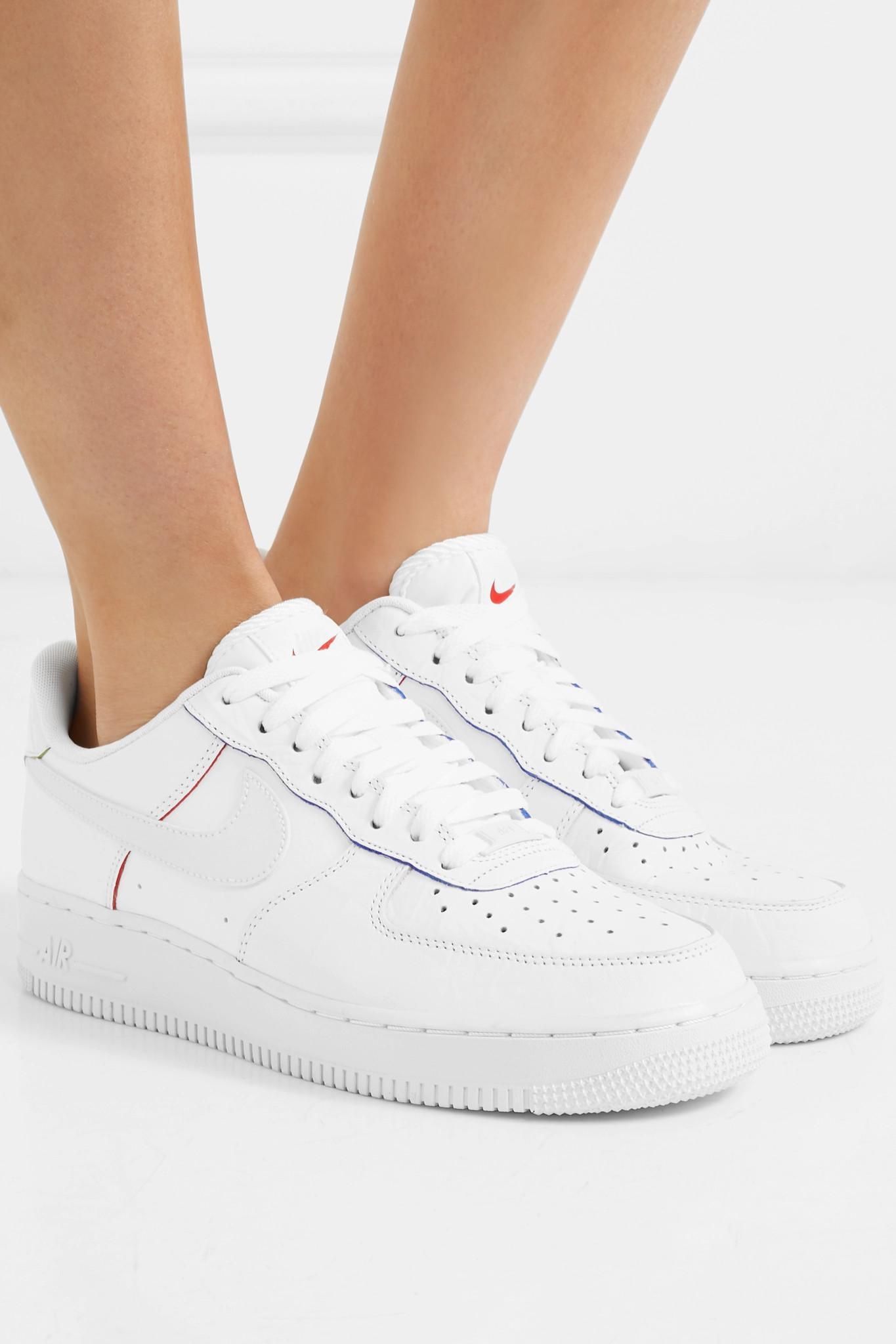 Baskets En Cuir Lisse Et Texturé Air Force 1 Cuir Nike en coloris ...