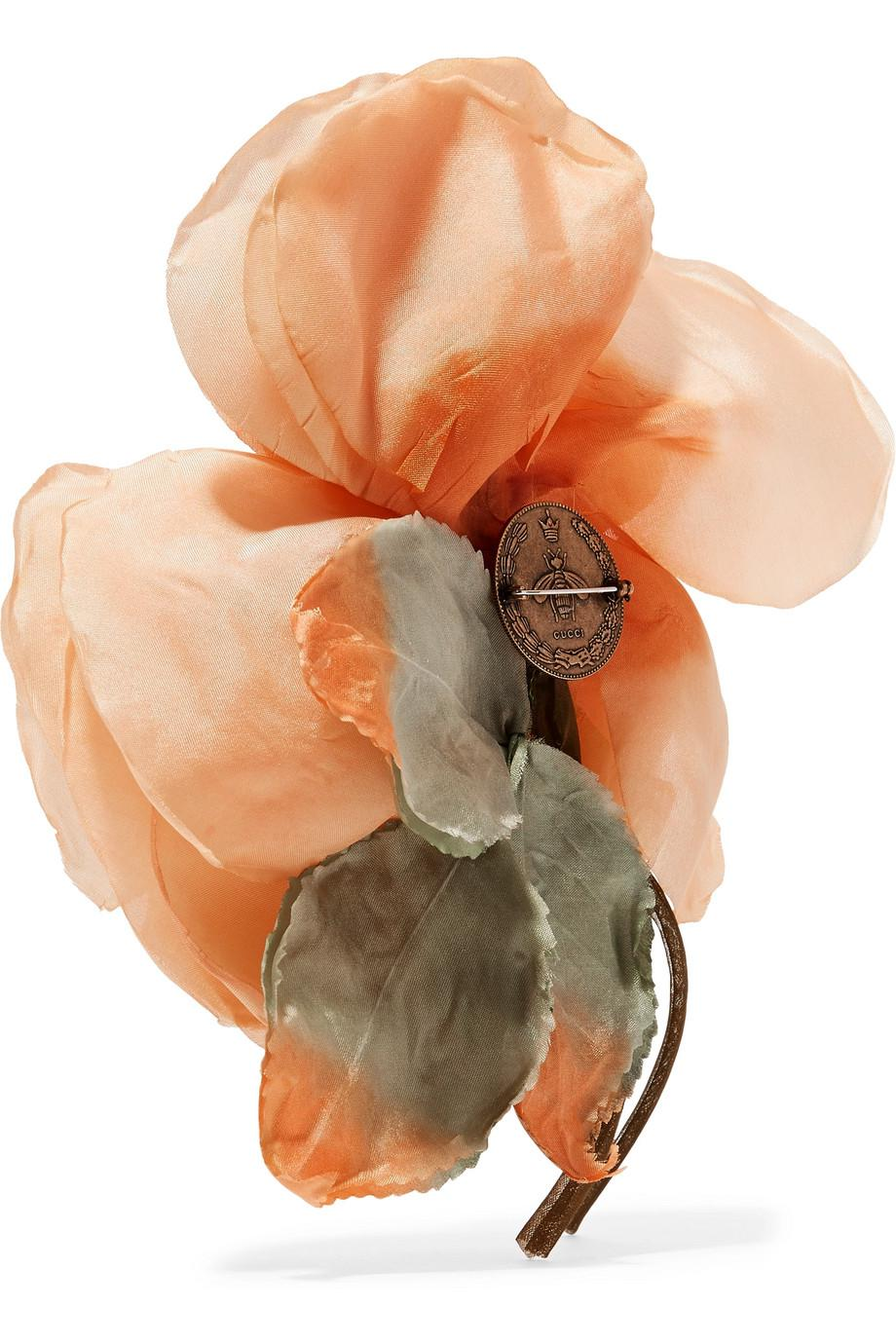 Gucci Floral Silk Brooch - Orange X20vAYgH