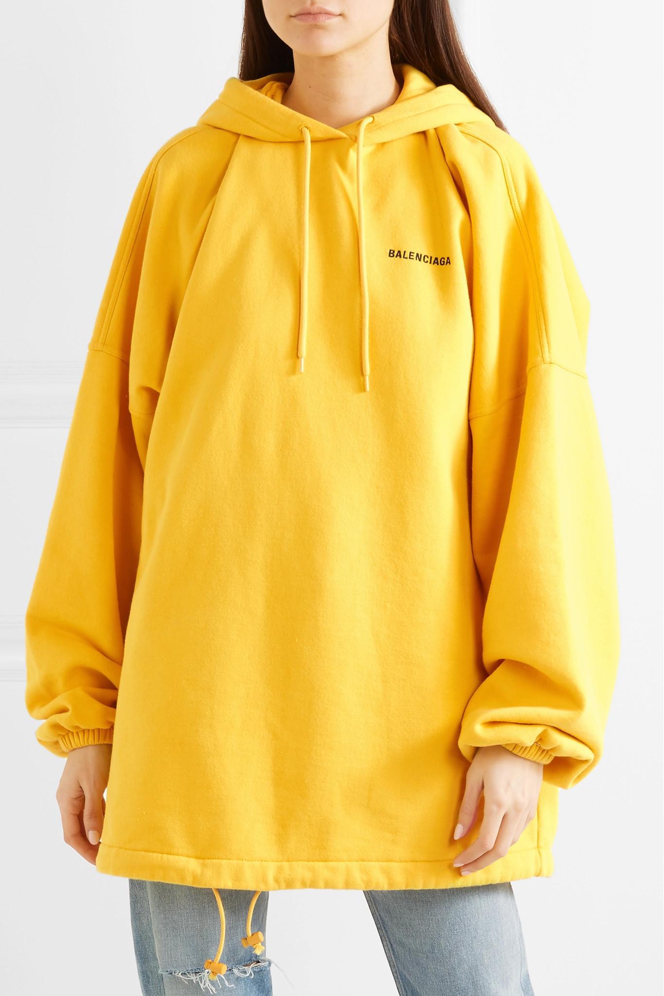 balenciaga oversized hoodie yellow