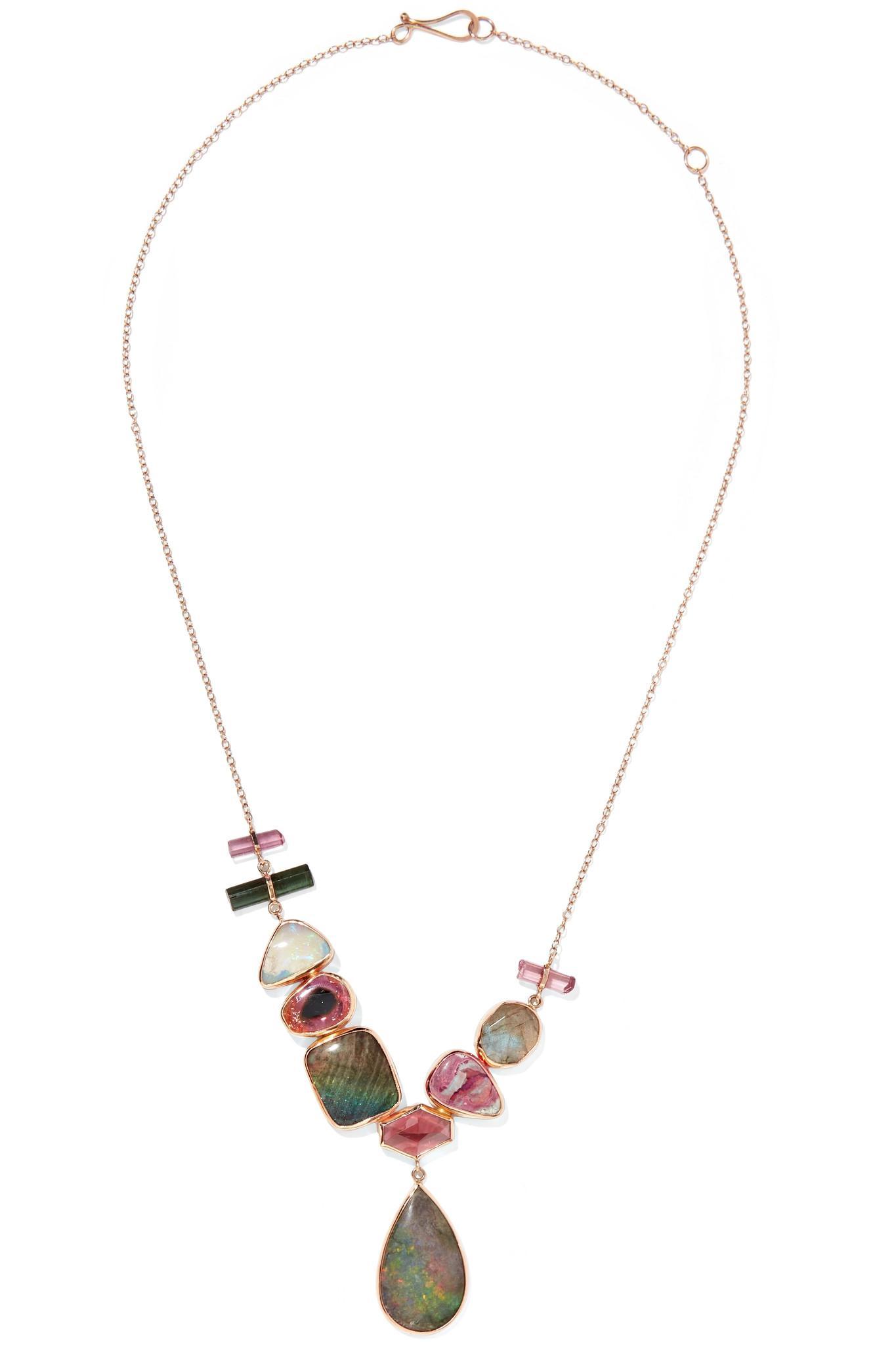Melissa Joy Manning 14-karat Yellow And Rose Gold Multi-stone Necklace JTI5vnpG