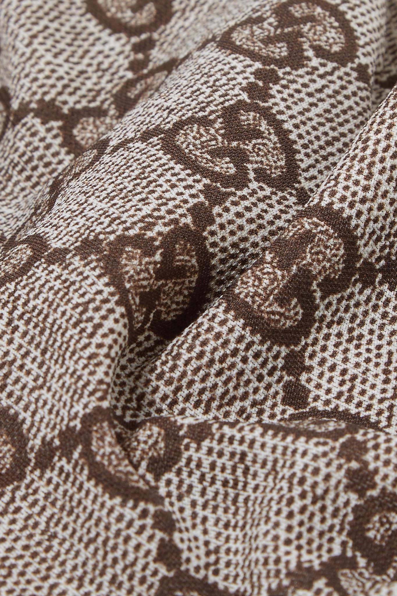 ce0d82e1d0671 Gucci Intarsia Tights in Brown - Lyst