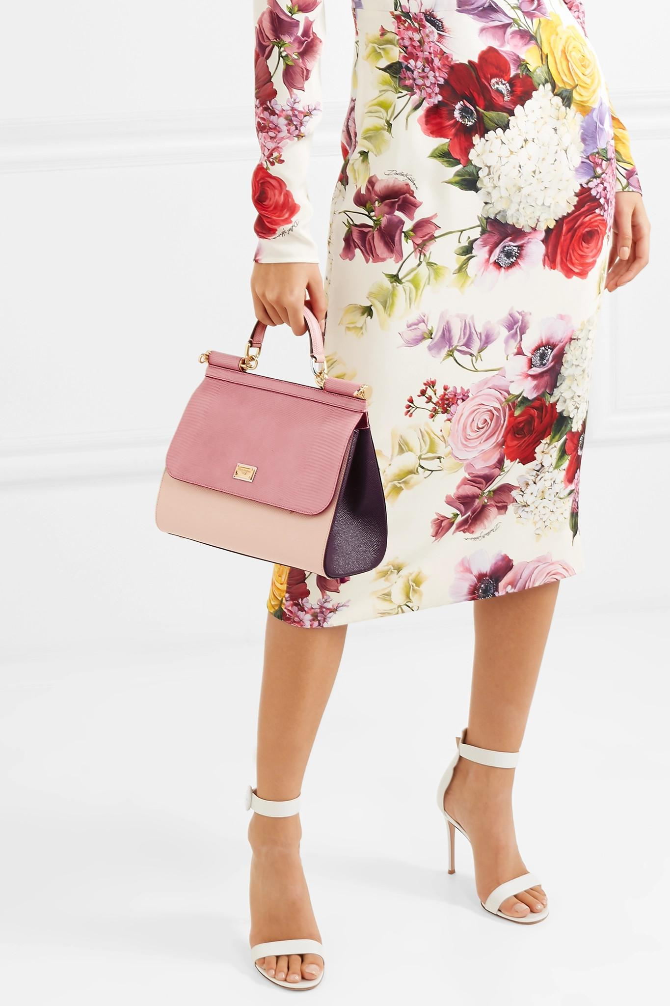 748828cc83 Dolce   Gabbana - Pink Miss Sicily Small Leather Shoulder Bag - Lyst. View  fullscreen