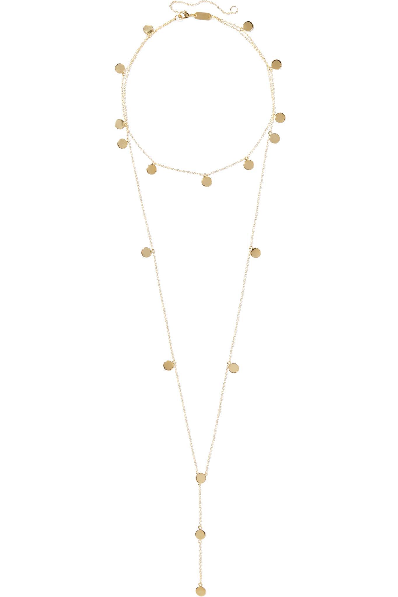 Arme De L'Amour Gold-plated Enamel Necklace - Black pGUZ3CT