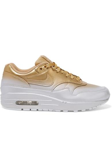 Nike Air Max 1 Lx Leather Sneaker in Gold (Metallic) - Lyst