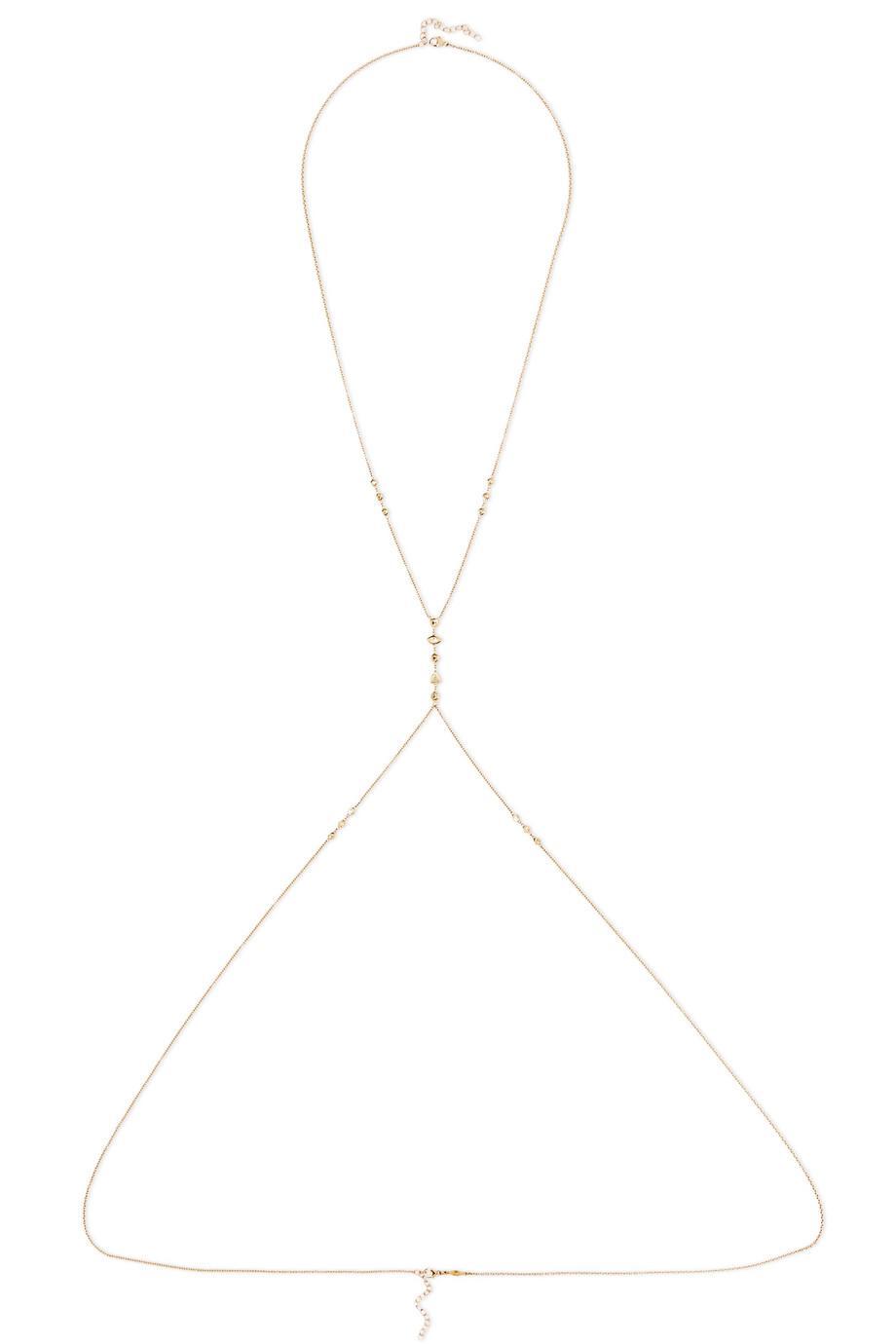 Jacquie Aiche 14-karat Gold Diamond Body Chain QHwjbsMK