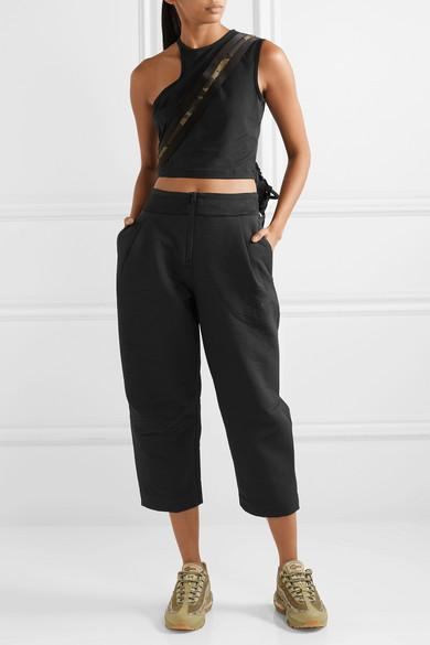 c5f3ef8737c6bb Nike Tech Pack Cropped Wide-leg Neoprene Track Pants in Black - Lyst