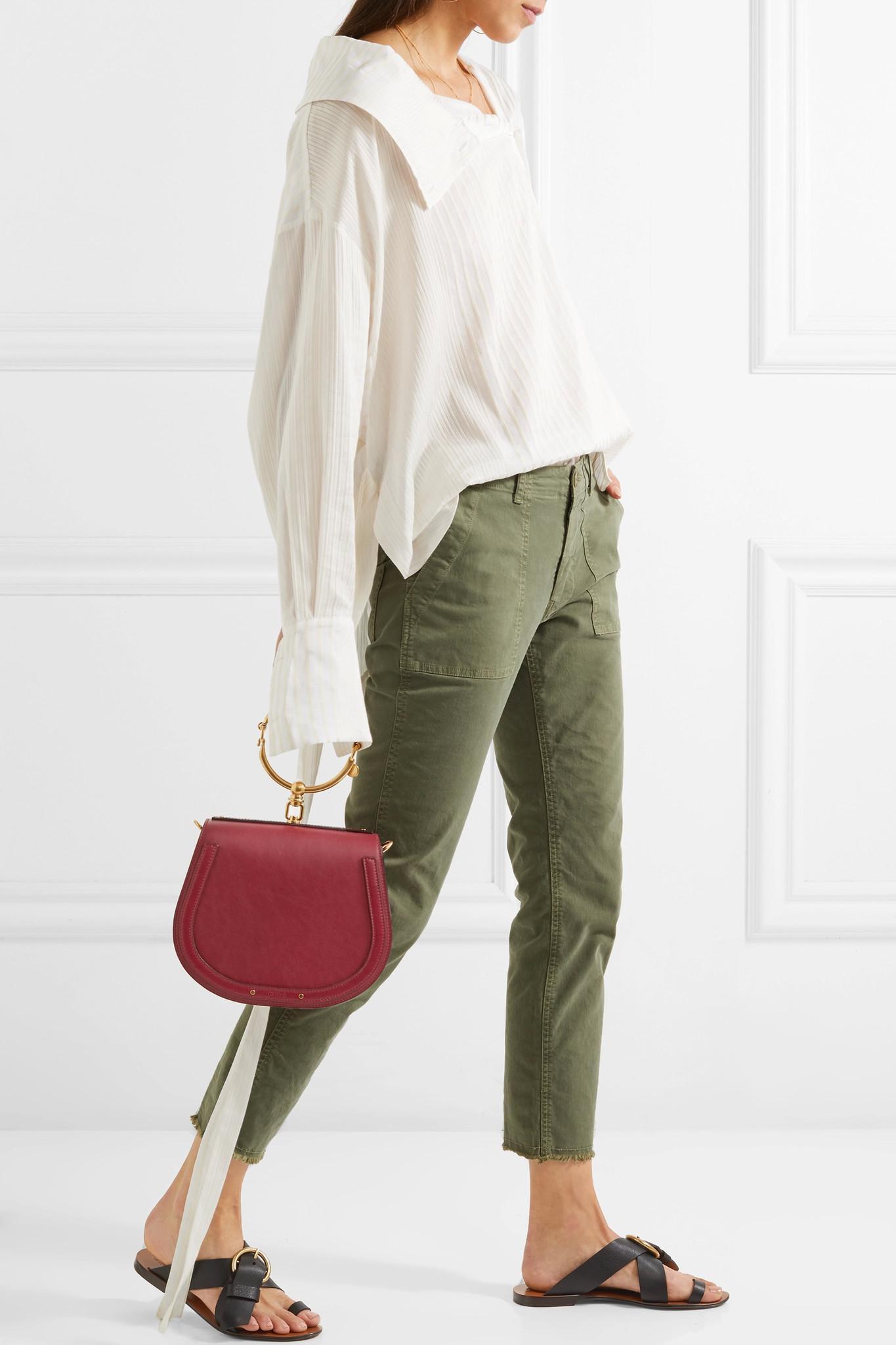 Chlo 233 Nile Bracelet Medium Leather And Suede Shoulder Bag