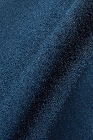 Robe Midi En Satin Martelé À Découpes Viola Cushnie en coloris Bleu