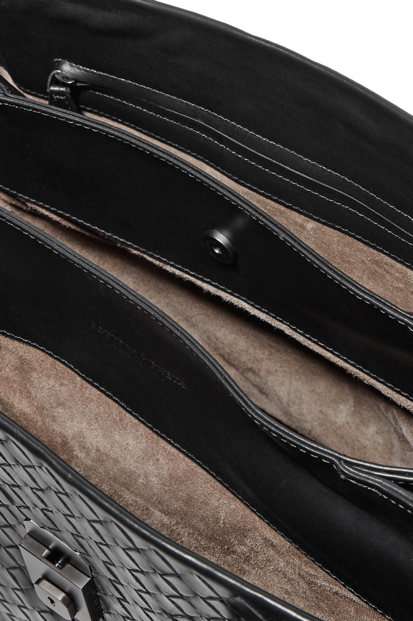 a5042c2278 Bottega Veneta - Black Roma Large Intrecciato Leather Tote - Lyst. View  fullscreen