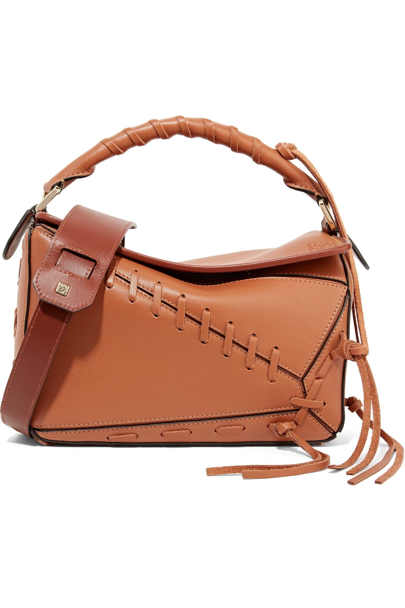 a79081686c07 Lyst - Loewe Puzzle Small Whipstitched Textured-leather Shoulder Bag ...