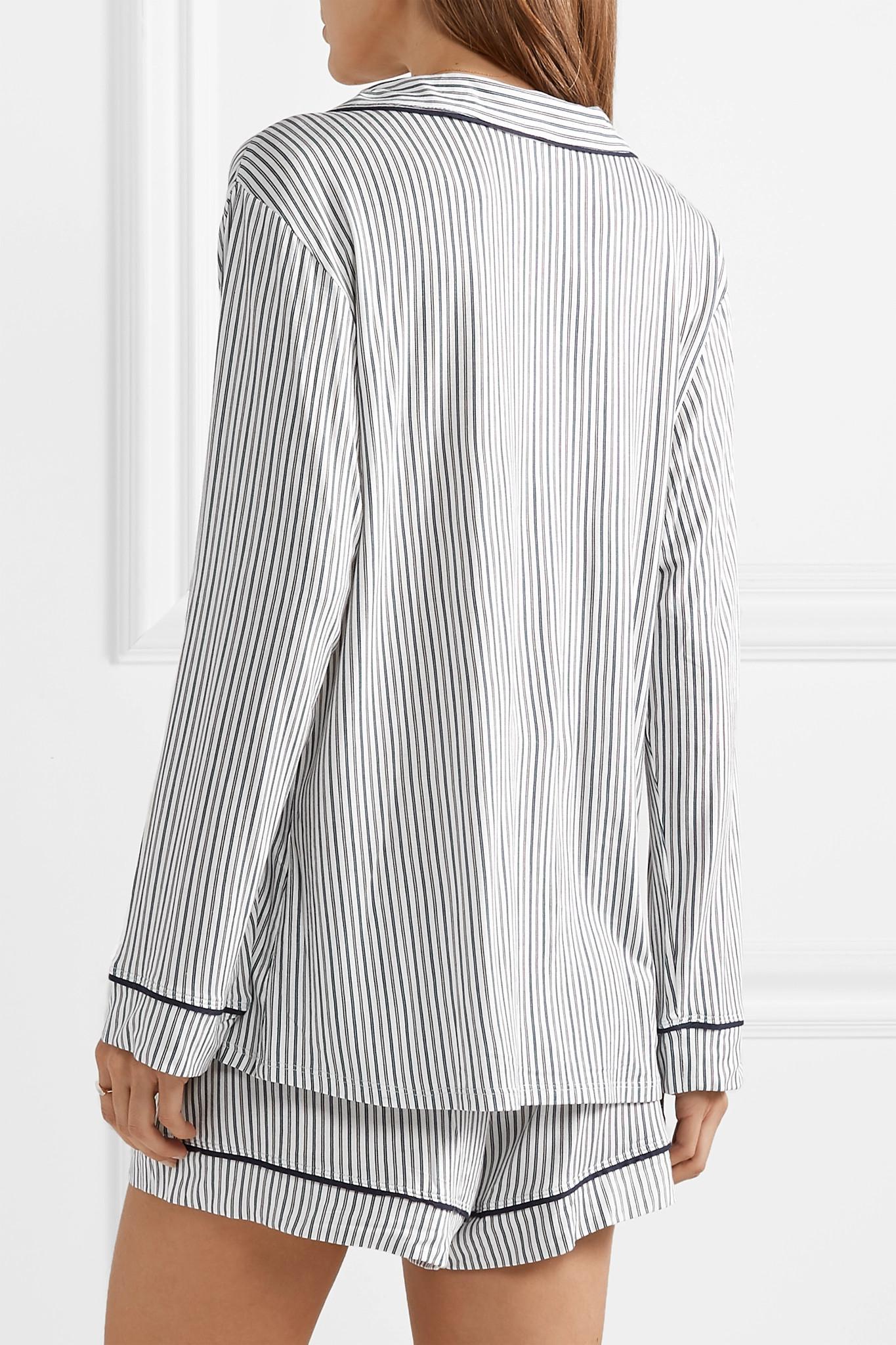 fea0f709f8 Pajamas Sleep Chic Striped Jersey Pajama Set White
