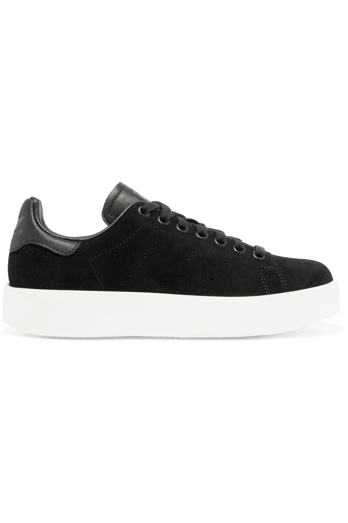 Baskets En Daim Et En Cuir Stan Smith Bold Adidas Originals en coloris Black
