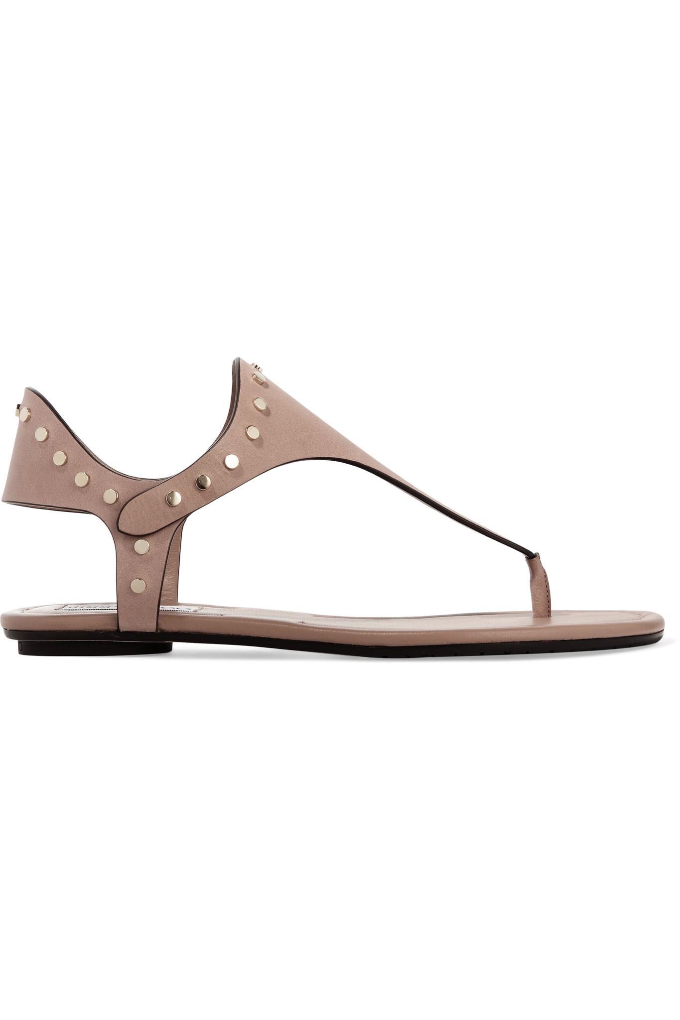 caf06f43cc7 Jimmy Choo Dara Studded Leather Sandals - Lyst