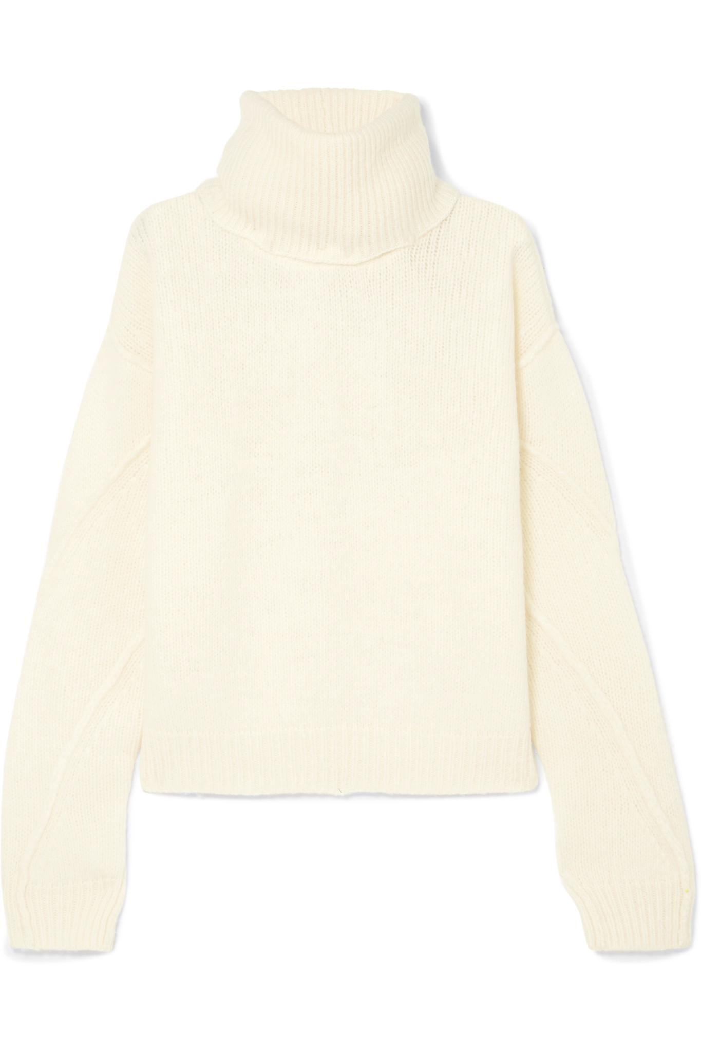 7a05020a5f Tory Burch. Women s White Eva Convertible Oversized Wool-blend Turtleneck  Jumper