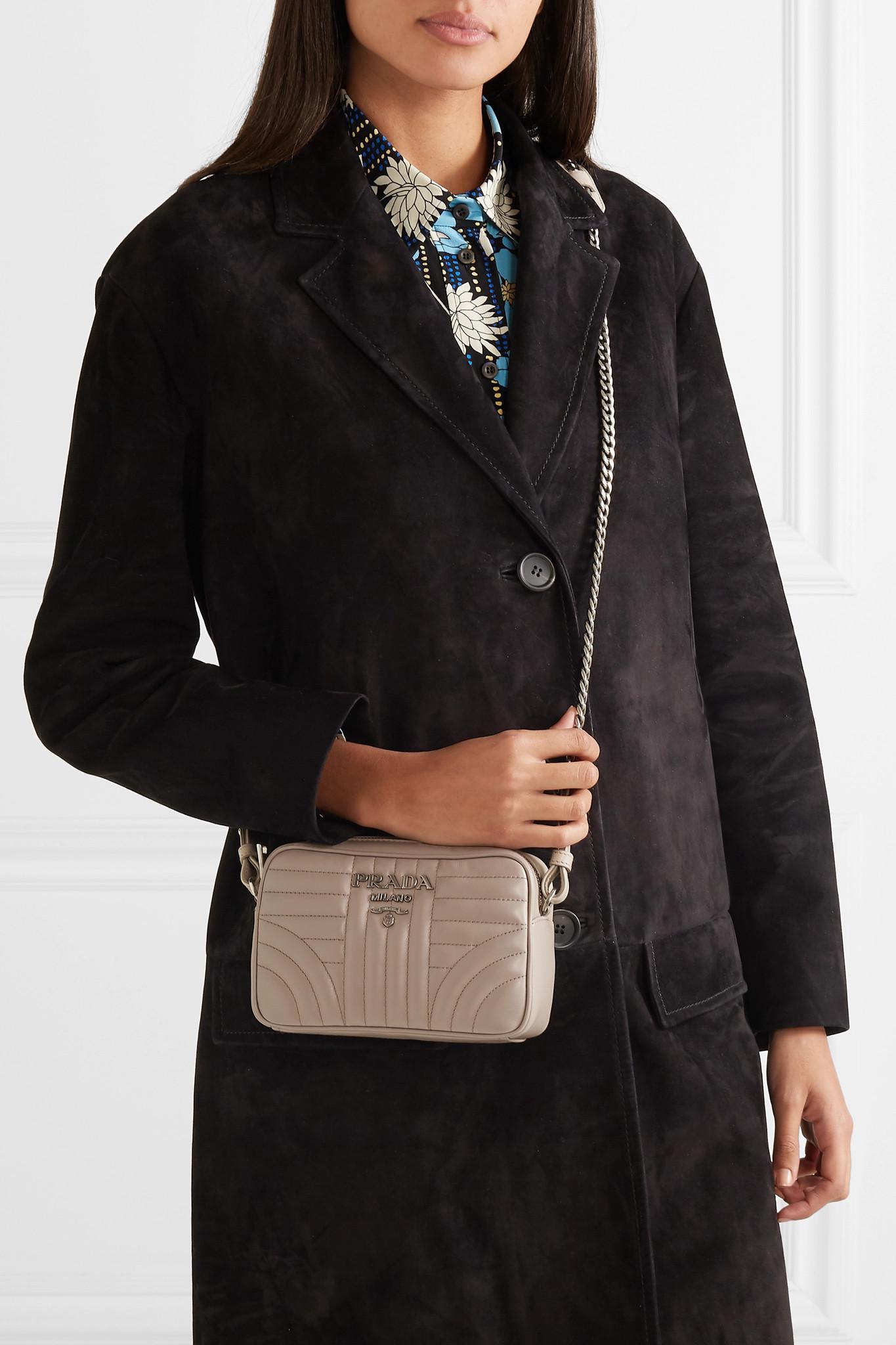 12ca1fe7b277 Prada - Natural Quilted Leather Camera Bag - Lyst. View fullscreen