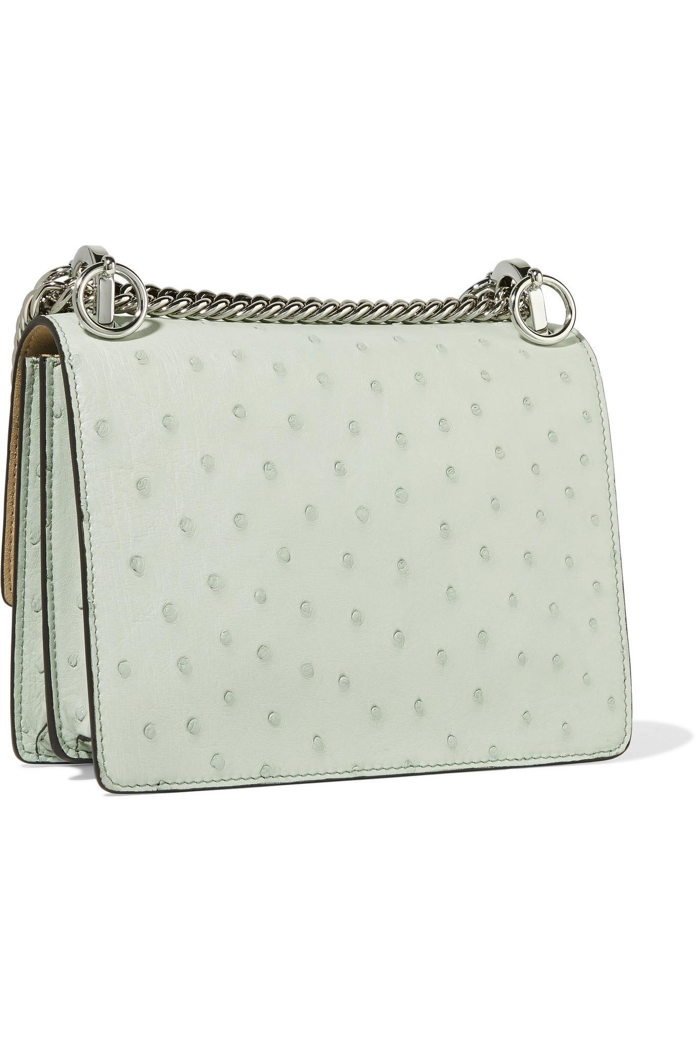 Fendi - Multicolor Kan I Small Ostrich Shoulder Bag - Lyst. View fullscreen 9623e4a95e6e6