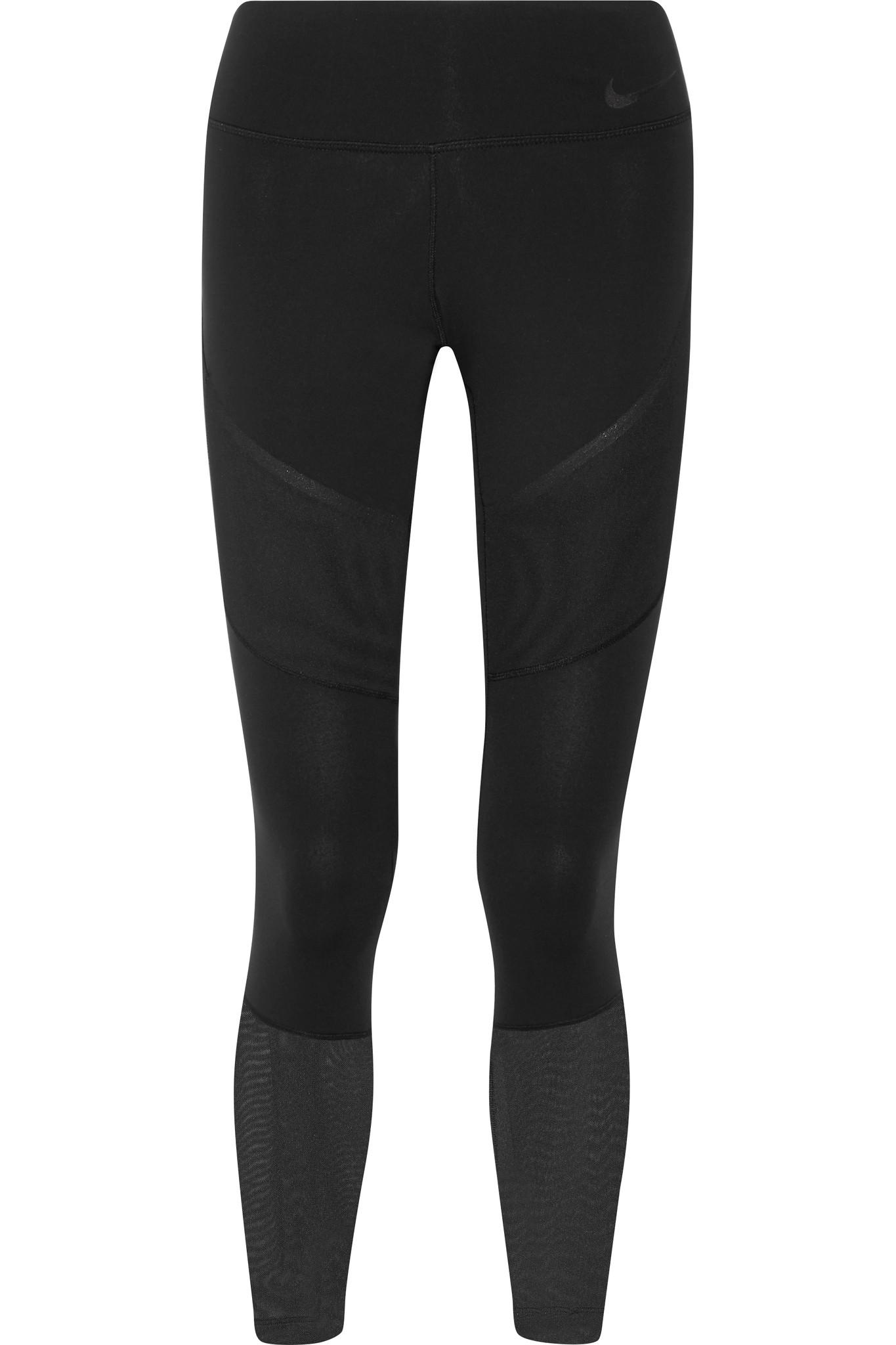 best supplier website for discount superior quality Power Legendary Mesh-paneled Dri-fit Stretch Leggings
